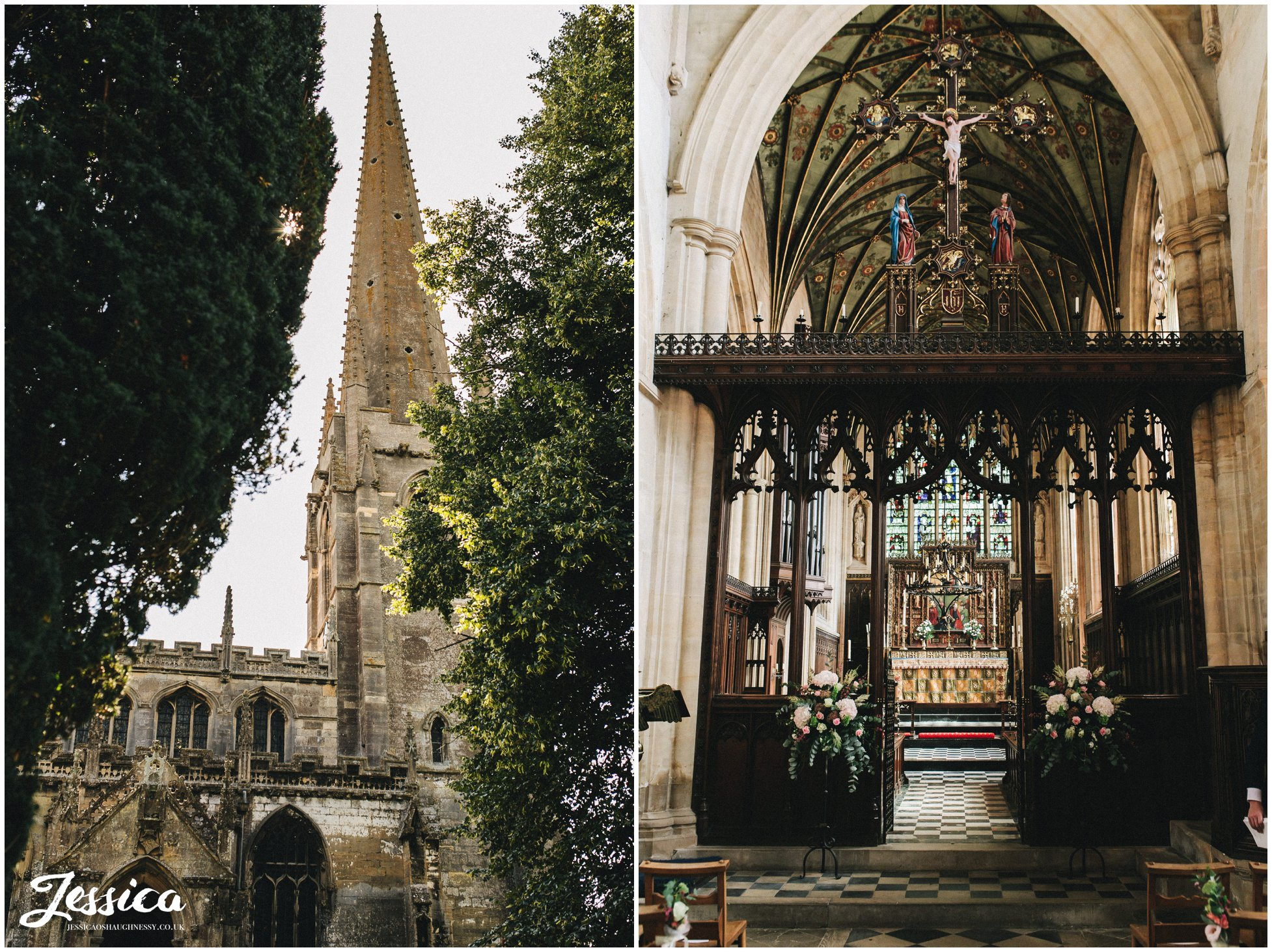 the nottinghamshire church from the outside & inside