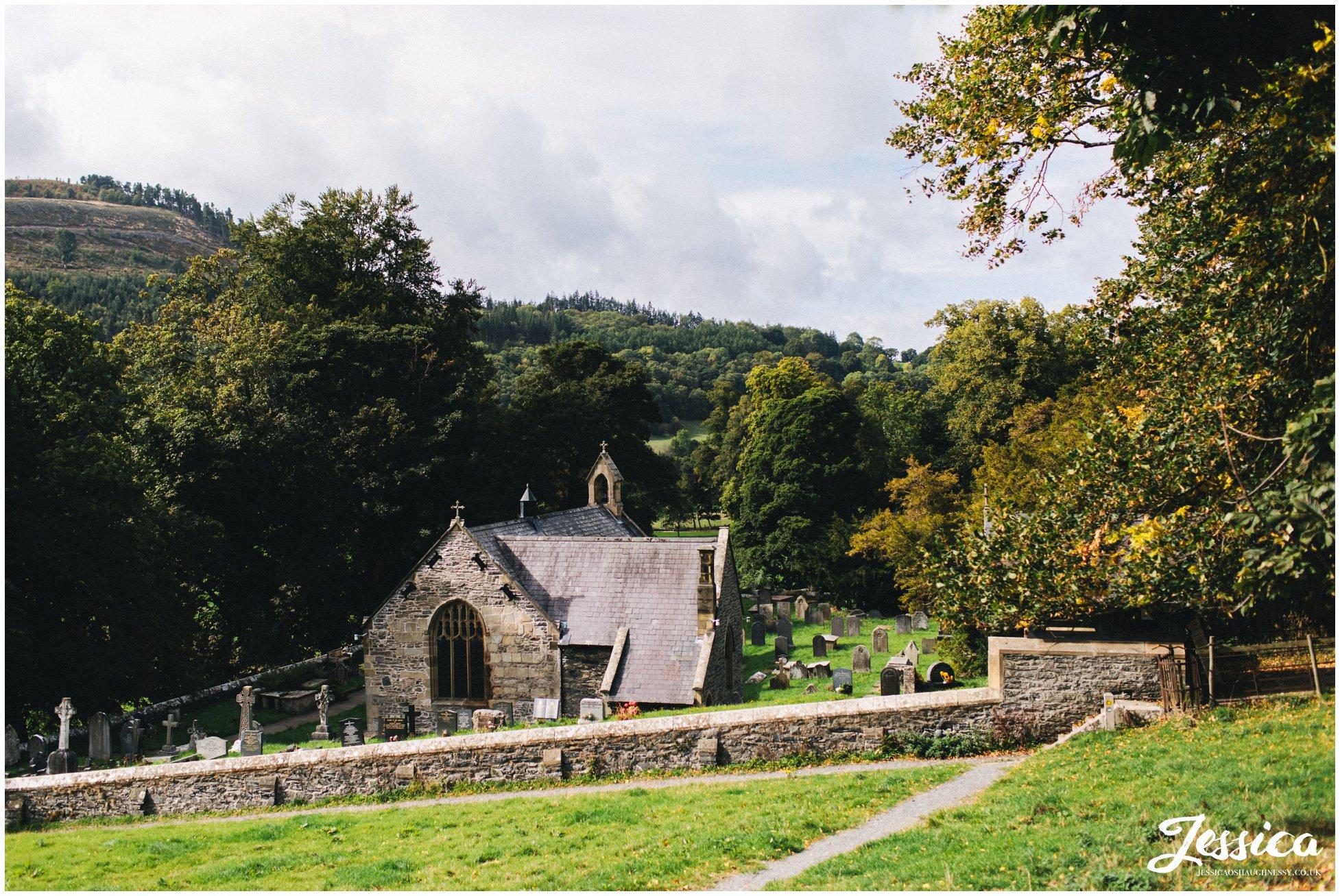 Llantysilio church in llangollen, north wales