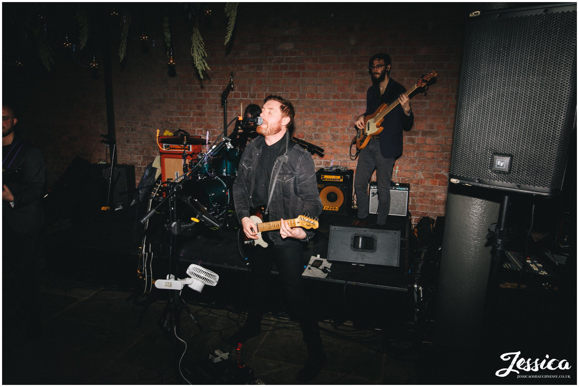 the wedding band preform at the titanic hotel in liverpool