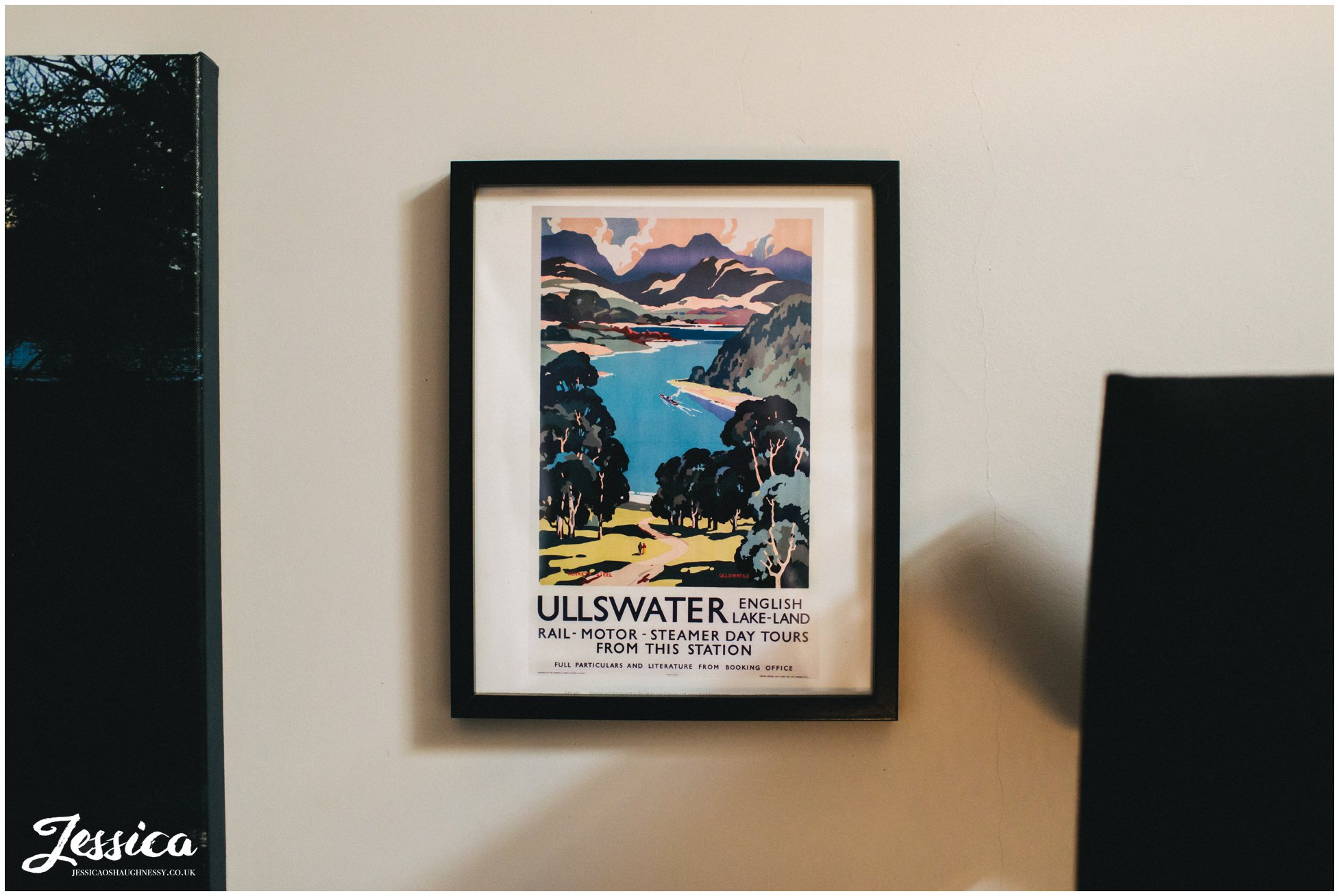 Ullswater prints decorate the boathouse