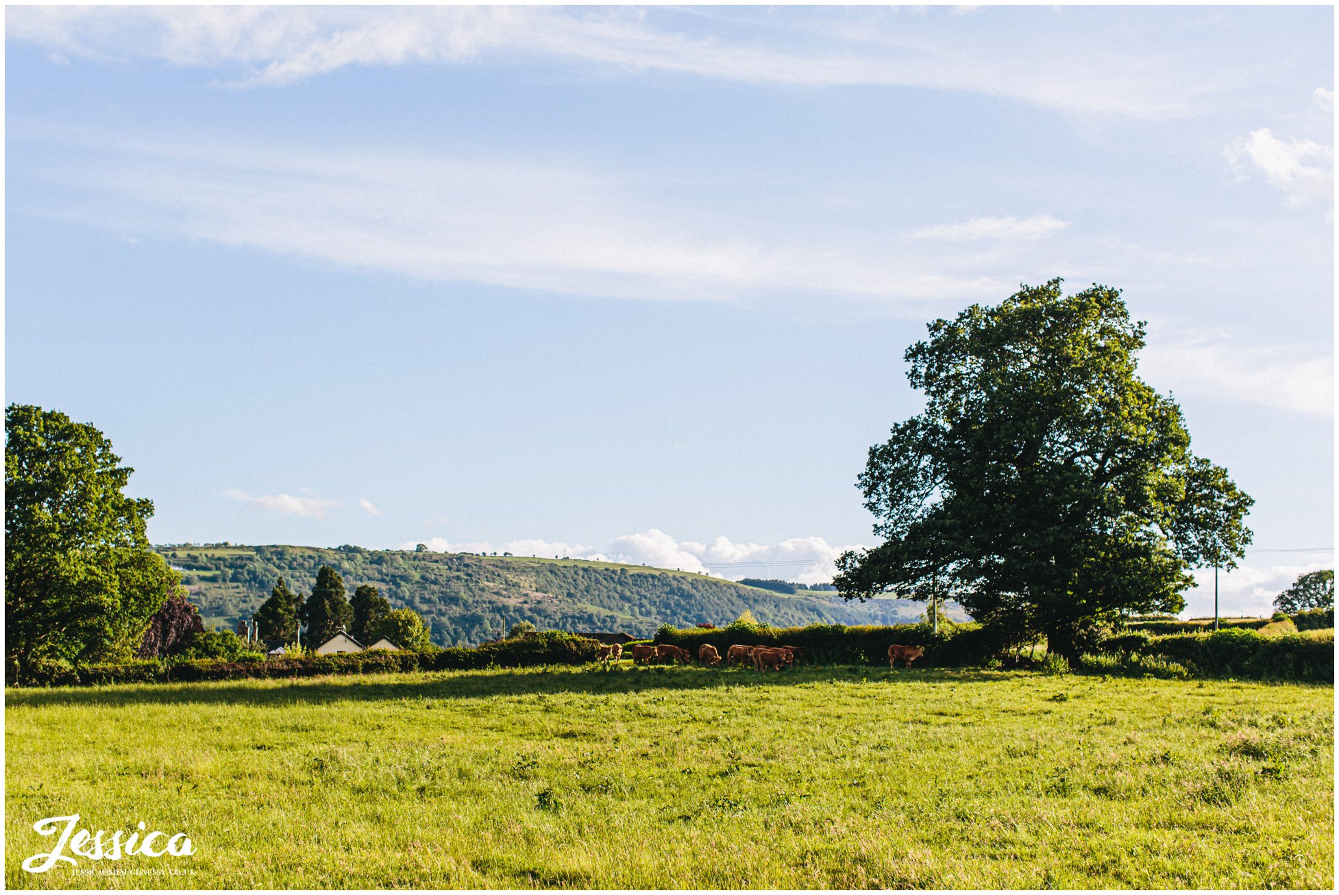 welsh country views surround the wedding venue