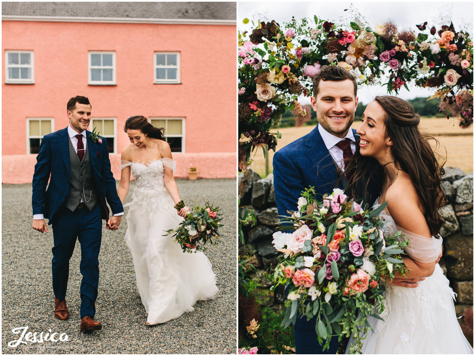 wedding photographer at the outbuildings in anglesey, north wales