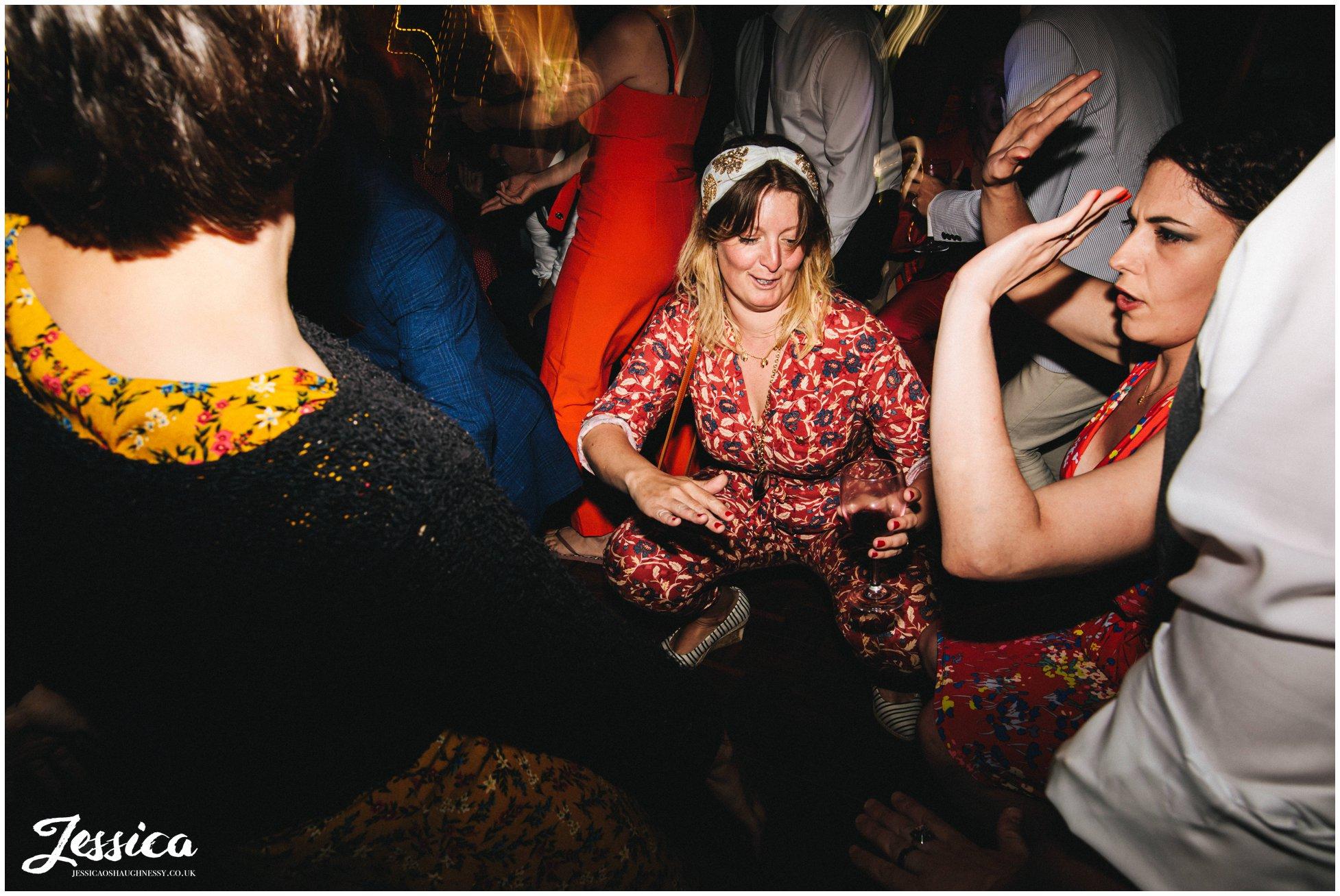 guests get low on the dancefloor