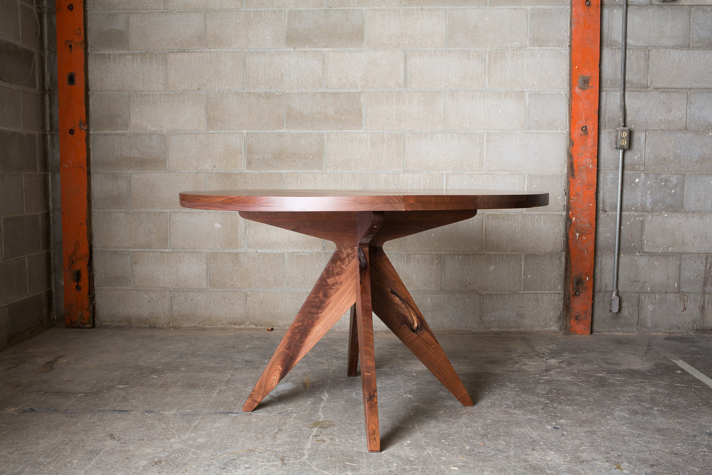 """My most popular table, the Colleen Kitchen Table was inspired by memories of my Grandma's house, and all of the meals, games and conversations our family shared at her table. This table can be sized from 24""""-84"""". Choose from three solid wood options:  Black walnut (shown), Blackened Ash, or Whit Oak.  Or request  custom materials ."""