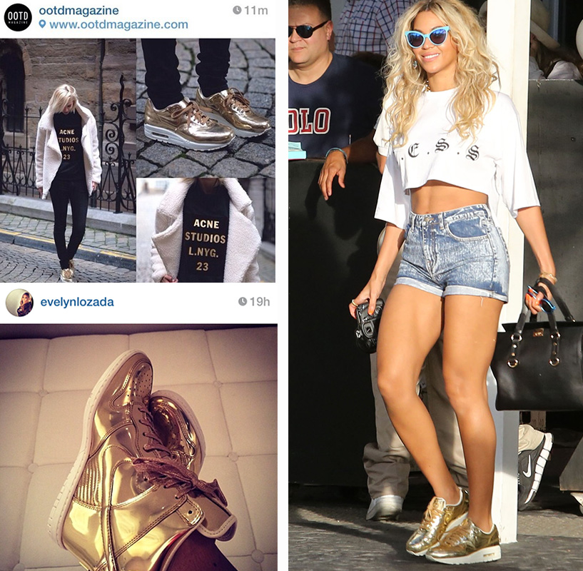 Photo credit on their Instagram feed, and Beyoncé's outfit steal can be found here  fashionbombdaily
