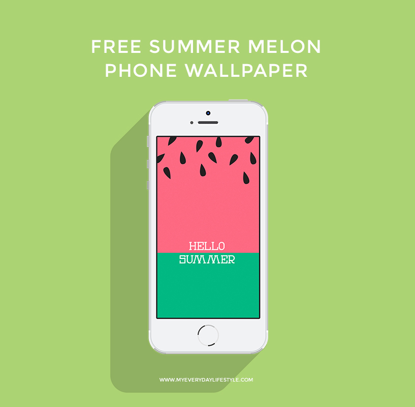 Click here to download the   Summer Melon   Phone Wallpaper. (iPhone Only). Here is a   Red Summer Melon   version as well. Email me if you want a different size.