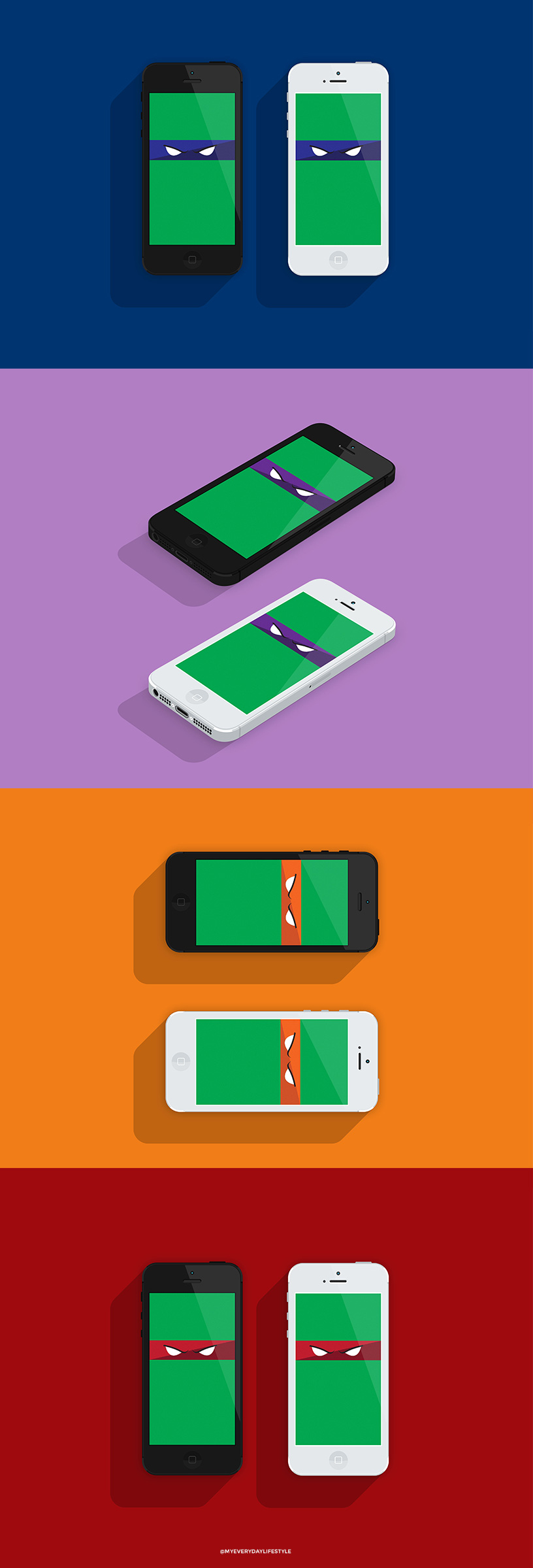 Download here iPhone only(email if you need android size):   Leonardo   |   Raphael   |   Donatello   |   Michelangelo