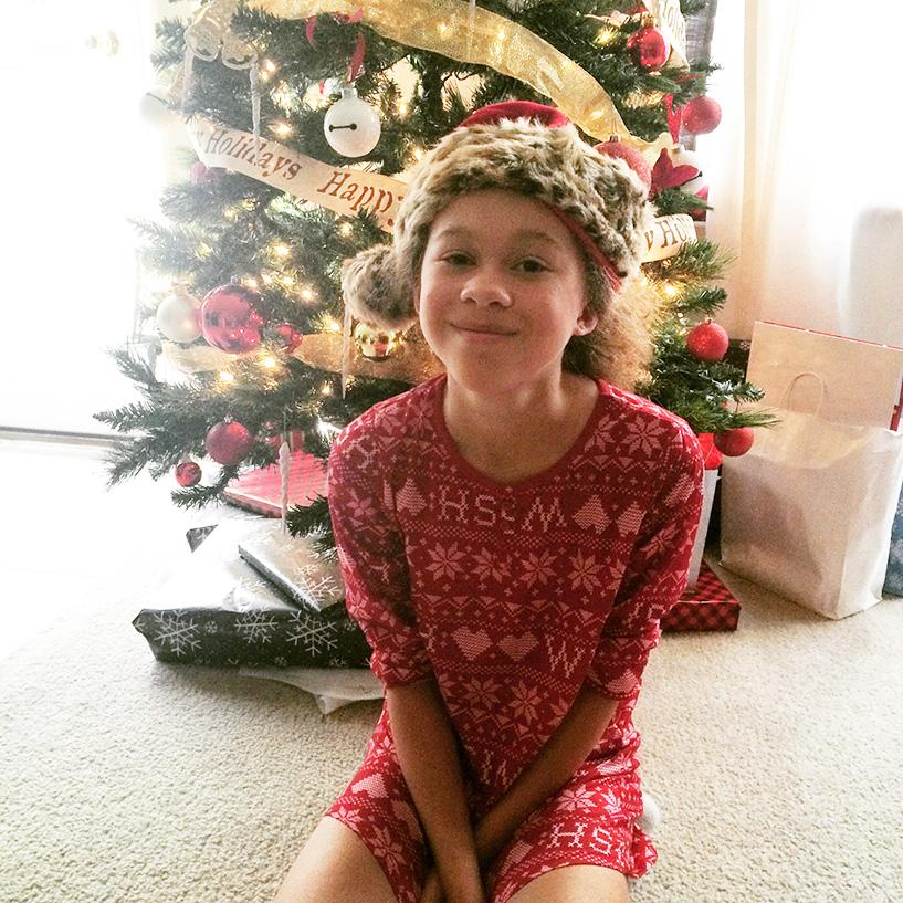 Baby girl this Christmas morning.