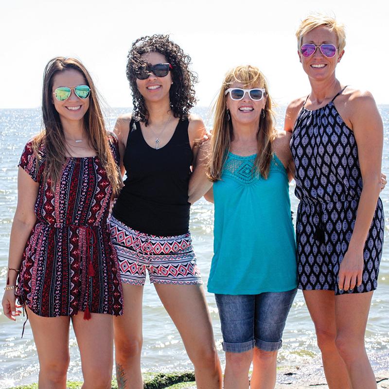 The Running Crew. Run Like A Diva Half Marathon 2016. Me, Jessie, Cindy and Tabetha.