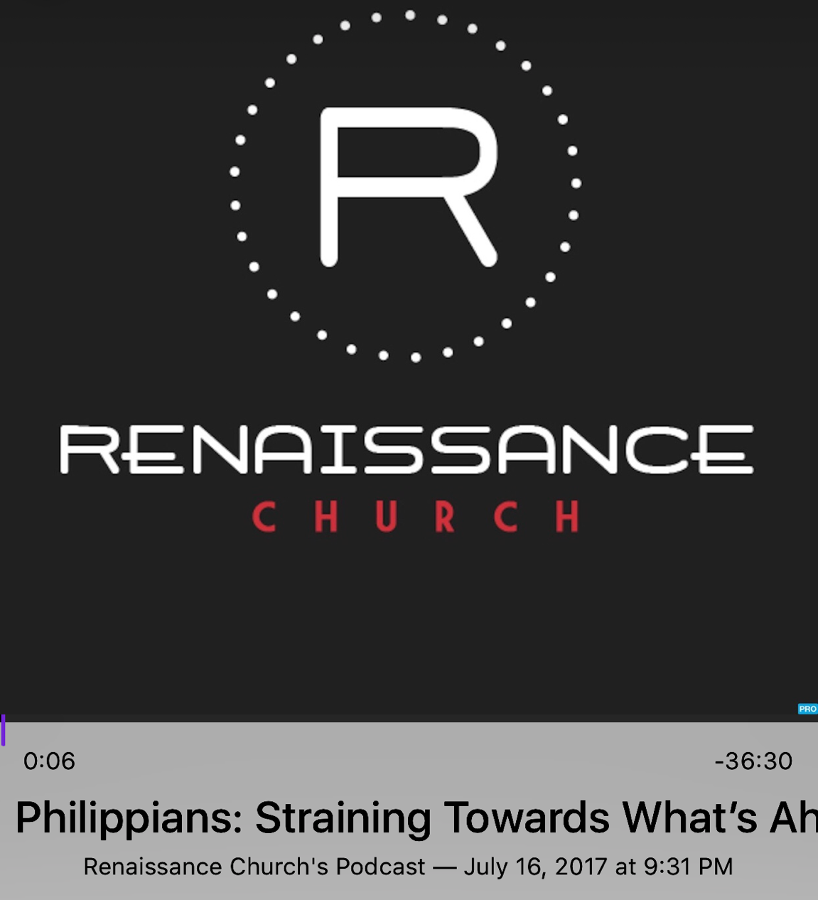 Sermon: Philippians: Straining Towards What's Ahead: July 16, 2017 - You can't experience joy without overcoming your fears about God