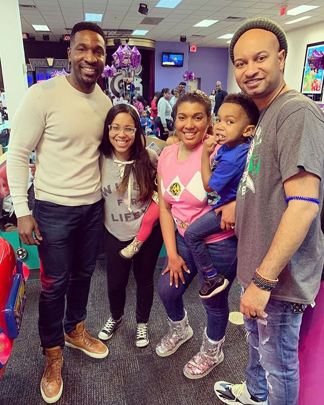 [ #GodParents 🙌🏿 Squad ] Major #HappyBirthday shout again to my #GodSon Sebastian and to my sister and fellow God Parent, Ariel (@joyarij), who celebrated her Birthday🎂 this week! +  We enjoy this (pretty much) annual photo 🙏🏿