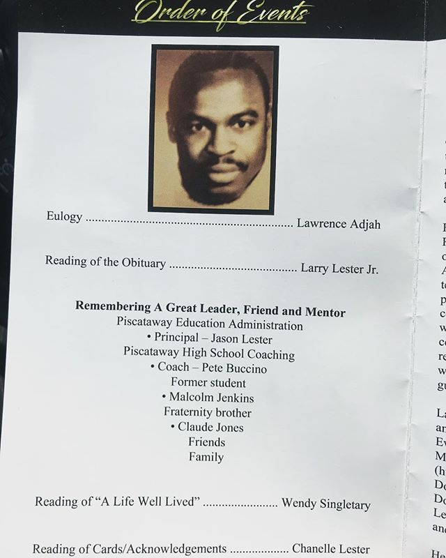 """[ L ] 🙏🏿 Yesterday, we laid down a giant to rest. +  Never imagined I would be giving the eulogy for a man, who, outside of my father, helped shape the course of my life. 23 years ago, my life changed, and it will never be the same, and I thank God for that. +  From our final dinner together, to the hospital room, to each day this week, going to sleep in laughter remembering the hilarious moments, to waking up in tears in physical pain from the grief, I will take every single moment with me 'til God welcomes me home. +  #TheProgram continues. + """"L"""" I love you, I miss you and I'm grateful I as well as so many others could bear witness to the reality that you have fought the good fight, you have finished the race, you have kept the faith. + + + +  2 Timothy 4:7 NIV [7] I have fought the good fight, I have finished the race, I have kept the faith."""