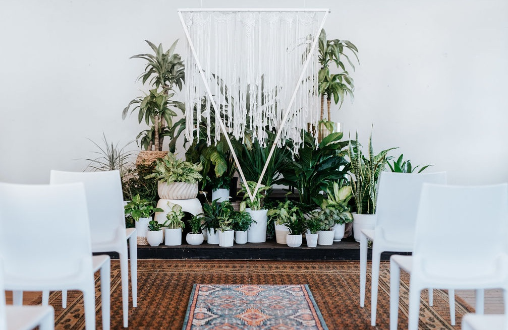 Modern Boho Wedding Ceremony designed by Lindsy Read of Music City Events