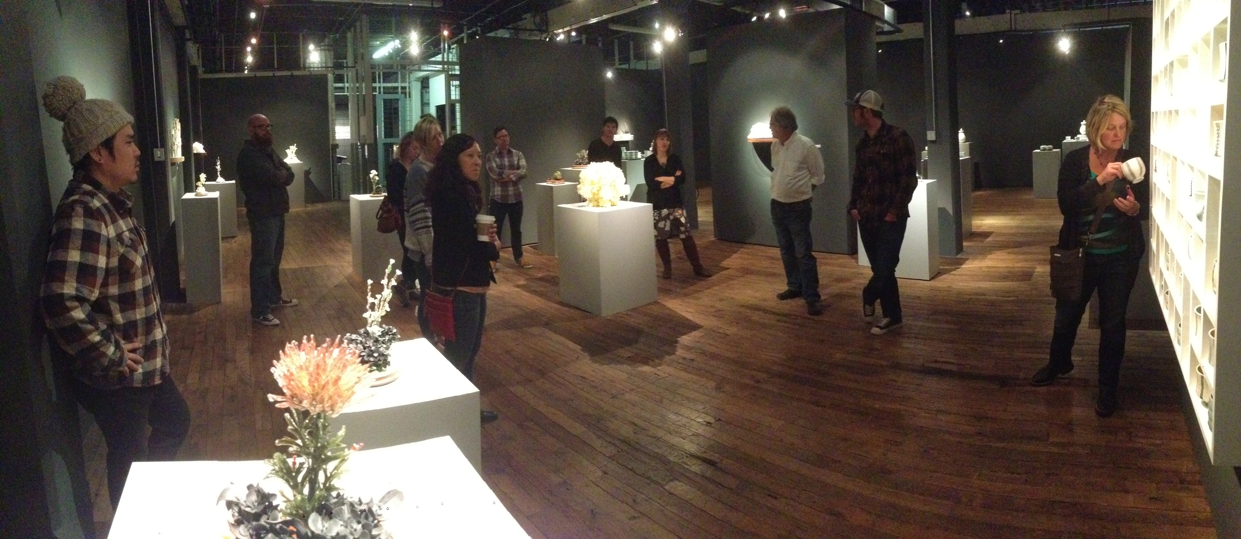 Rain and Paul, speaking about their two-person exhibition at the Belger.