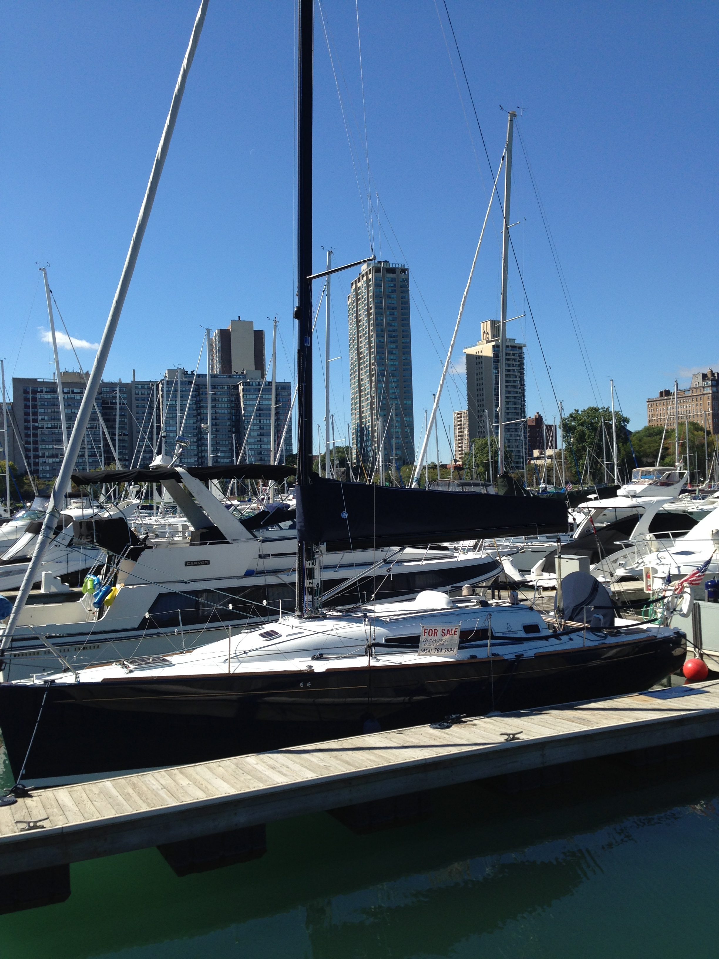 I used to walk by this boat everyday in Belmont Harbor in Chicago. I loved it so much but a bit out of my price range. Someday though!!