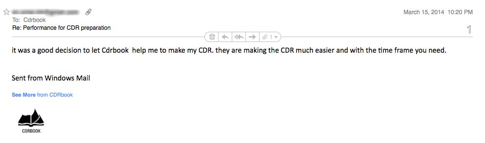 CDR Assessment Result engineering Australia 22