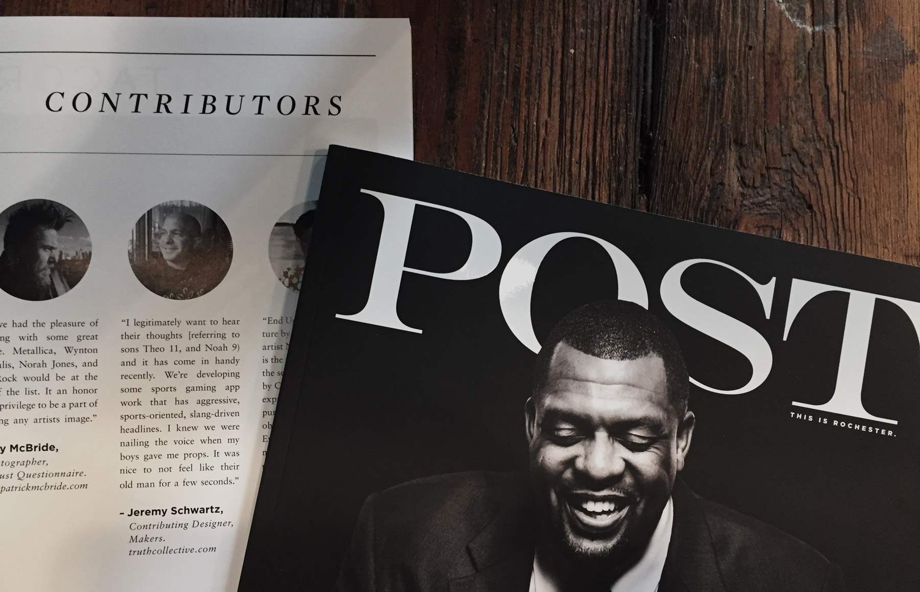 POST Magazine's March/April 2016 issue is out. Look for it on news stands now — or in the residence at The White House (true story).