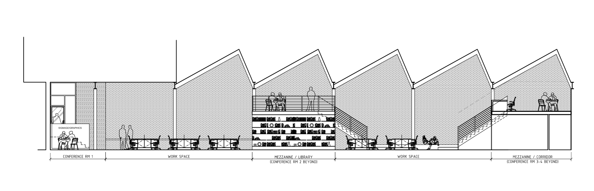 One elevation of the soon-to-be-opened Truth HQ in Neighborhood of The Arts