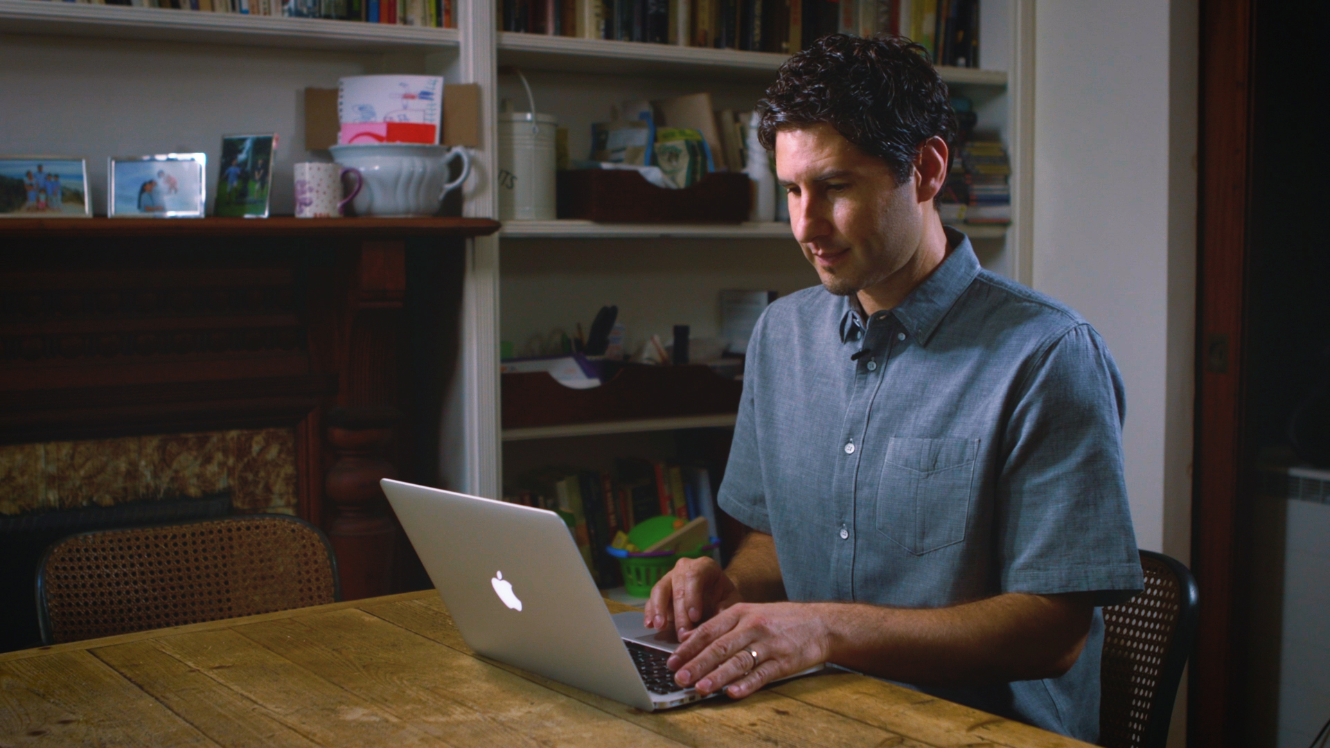 Author Matt de la Pena in a shoot for Dolly Parton's Imagination Library.