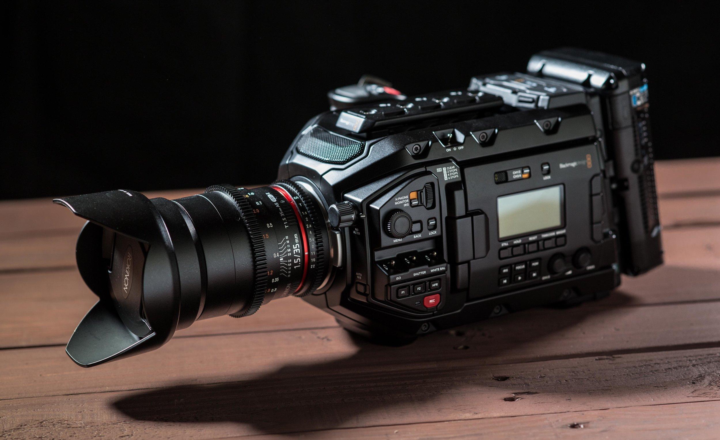 Ursa Mini Pro with Rokinon 35mm