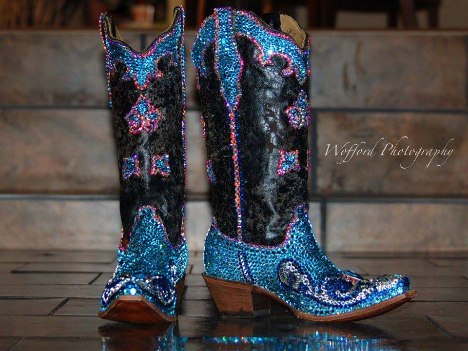 My boots!  I became known for my beautiful boots on The Voice.  Designer,
