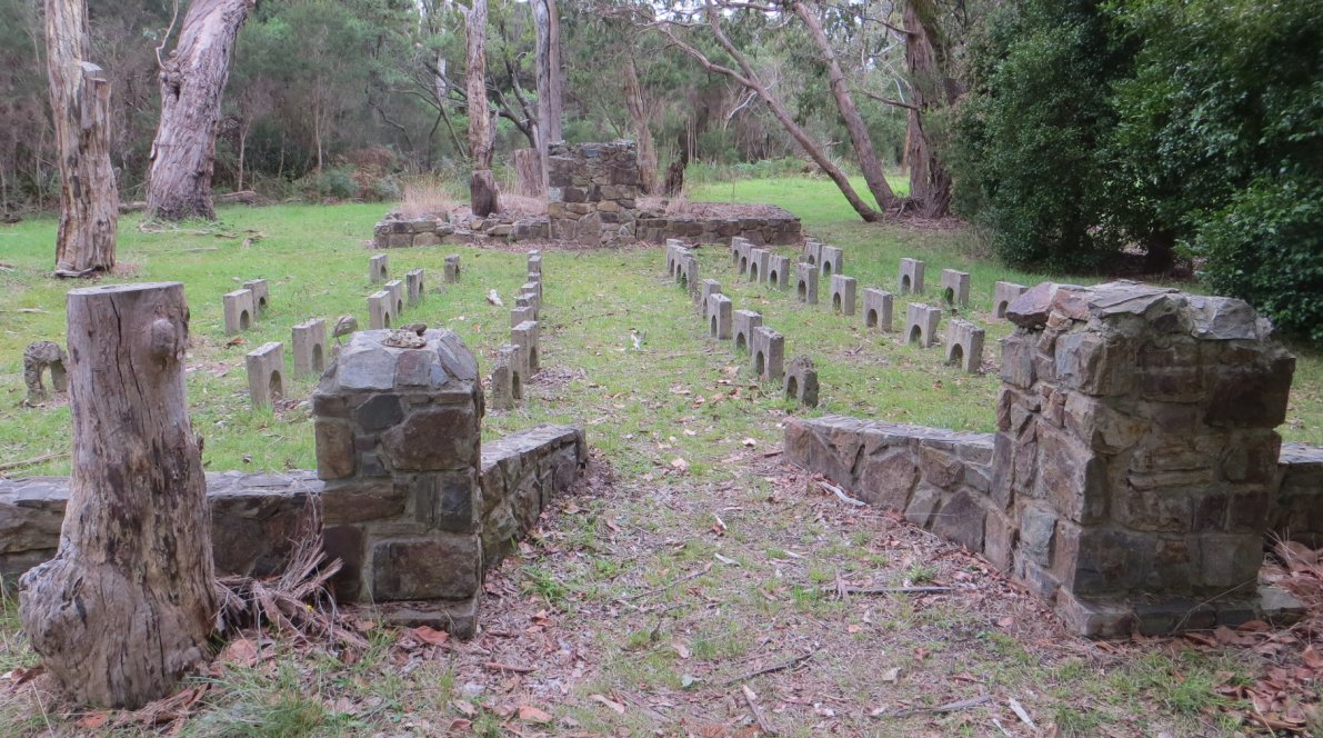 The Cyril Young Memorial Chapel viewed from its entrance towards the stone lectern in Buxton Reserve