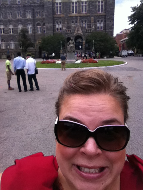 Very terrible attempt at a selfie with Georgetown.