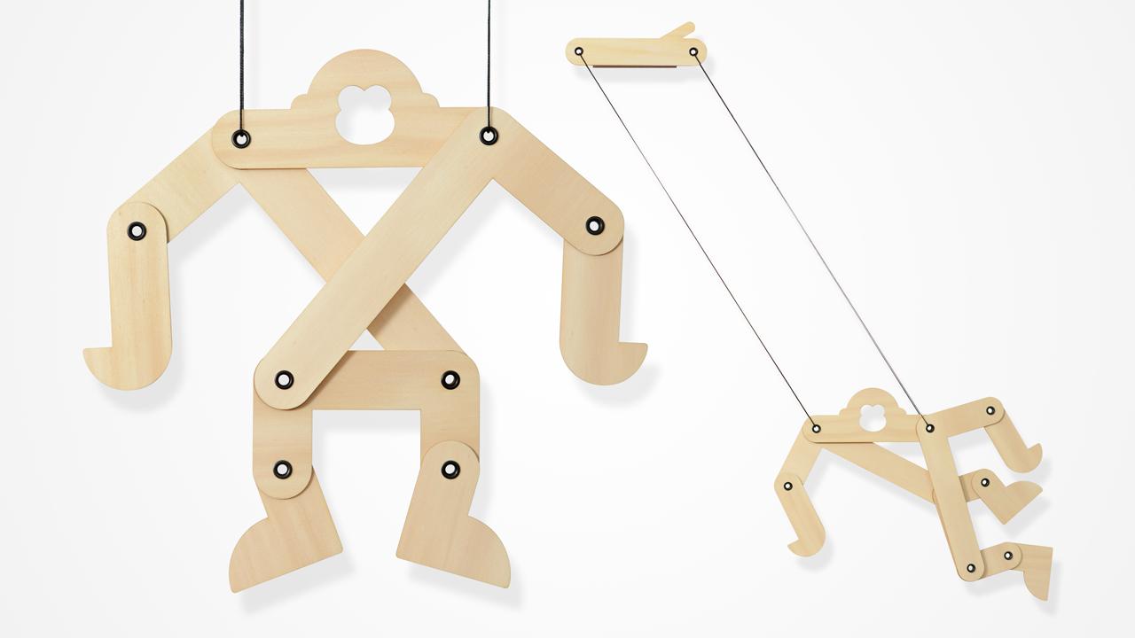 ROBERT SIM | THE APE SWINGING MOBILE Industrial design development, Production & sourcing