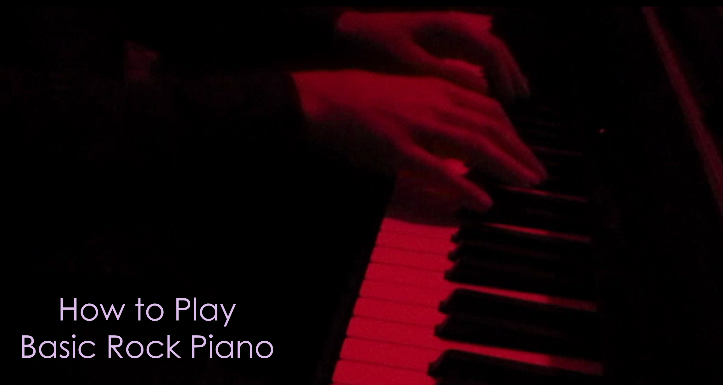 How To Play Basic Rock Piano (With Click)