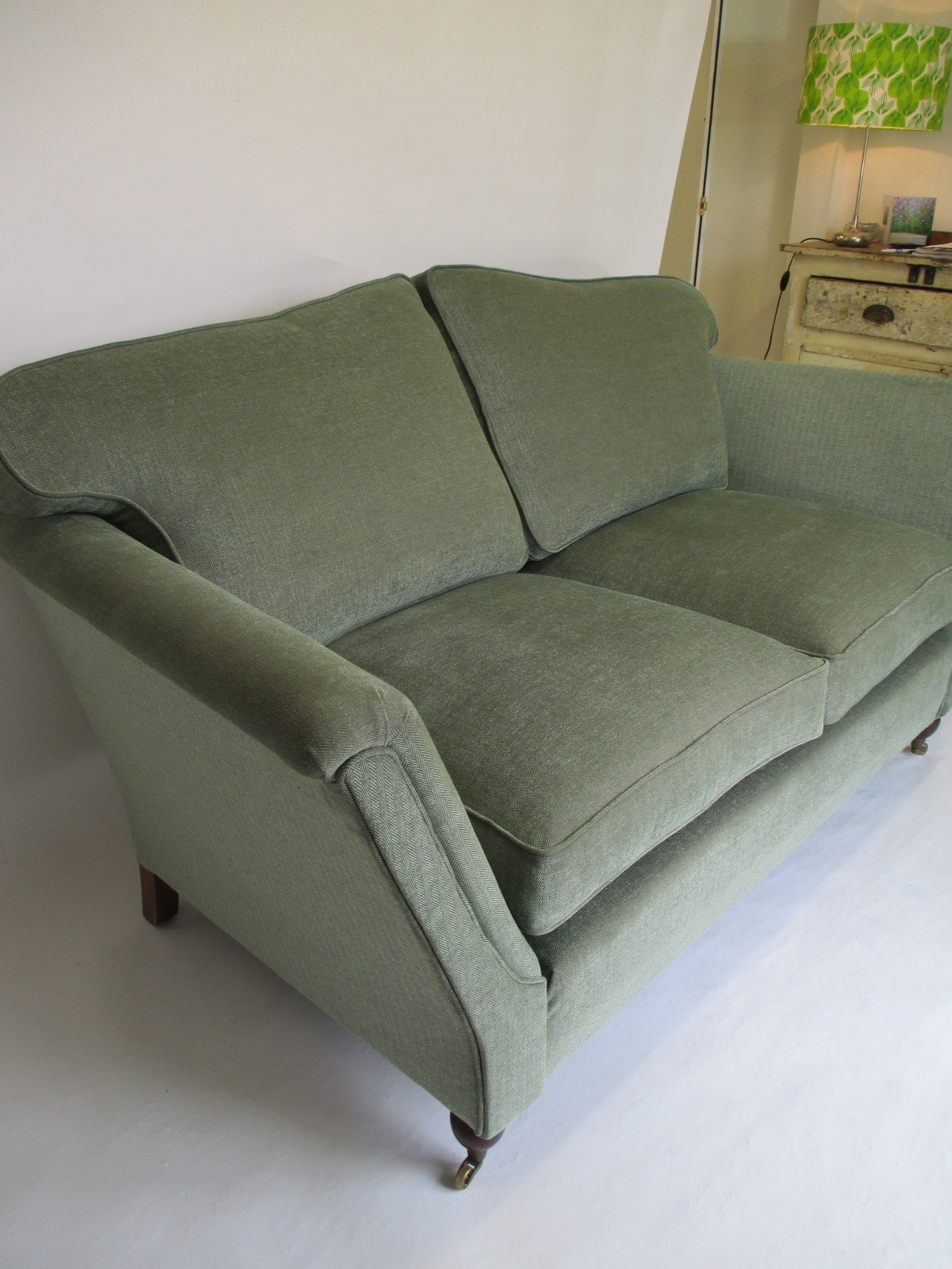 This sofa left the workshop this morning, the fabric is Nina Campbell, Hardwick