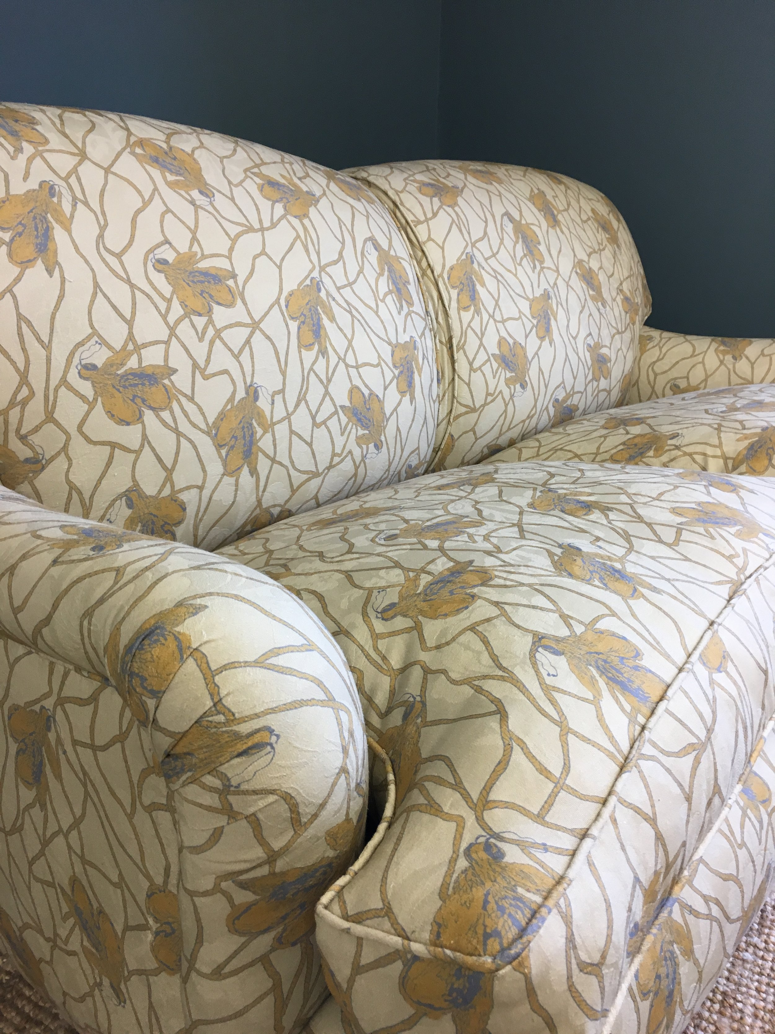 'Queen Bee' fabric by House of Hackney on a George Smith Sofa