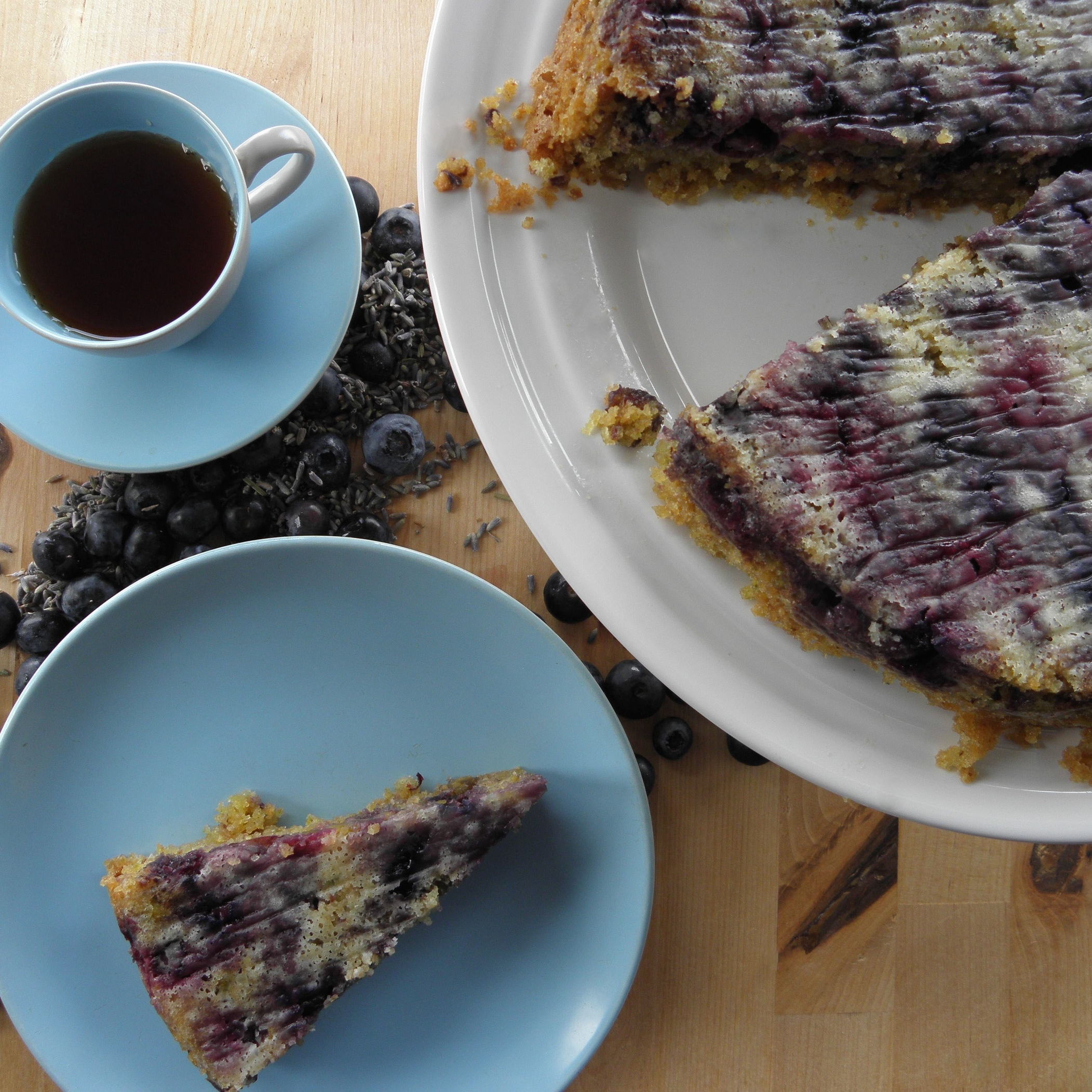 Blue lavender and amaranth cake