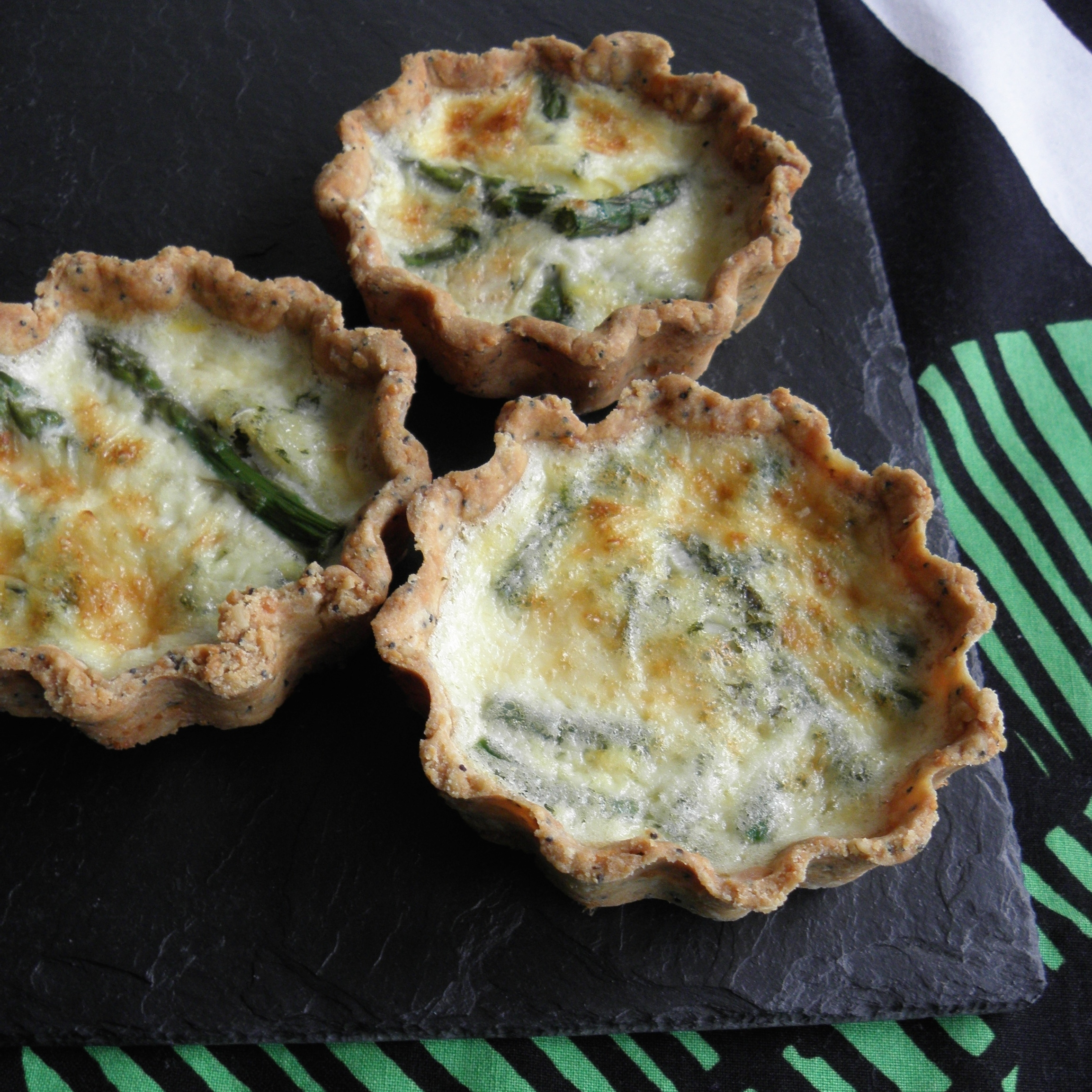 Spring vegetable tartlets