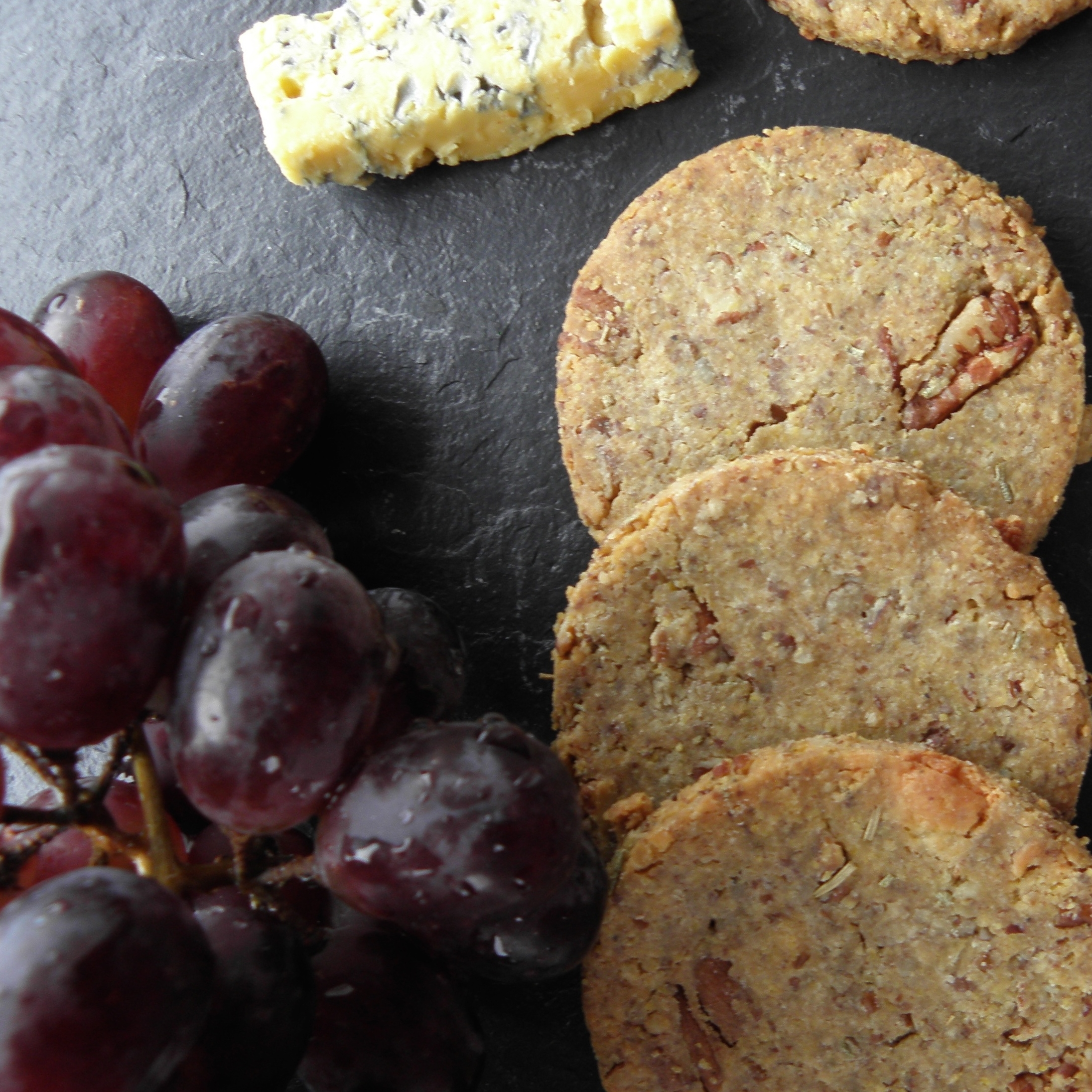 Harrogate Blue cheese and pecan biscuits