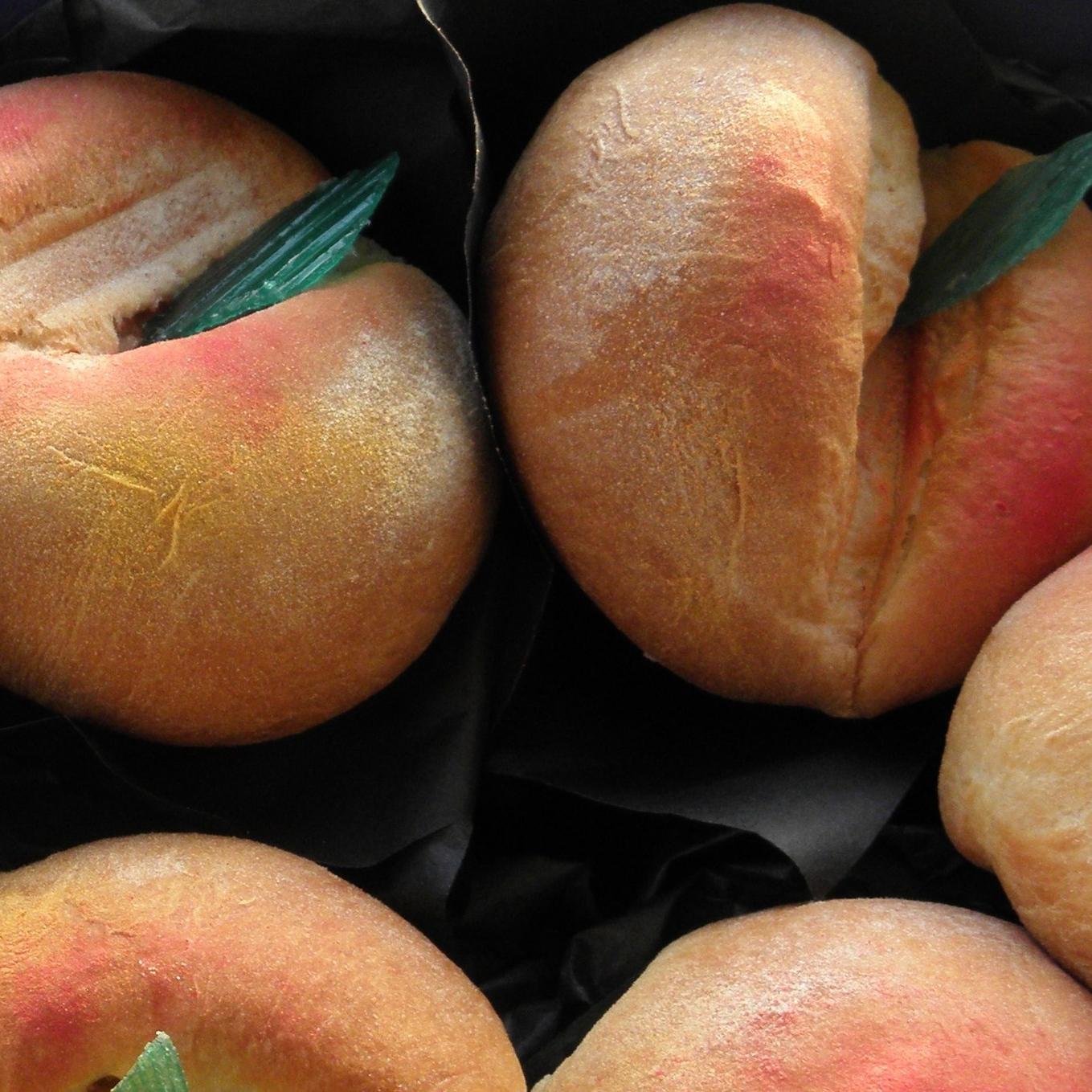 Peachy buns