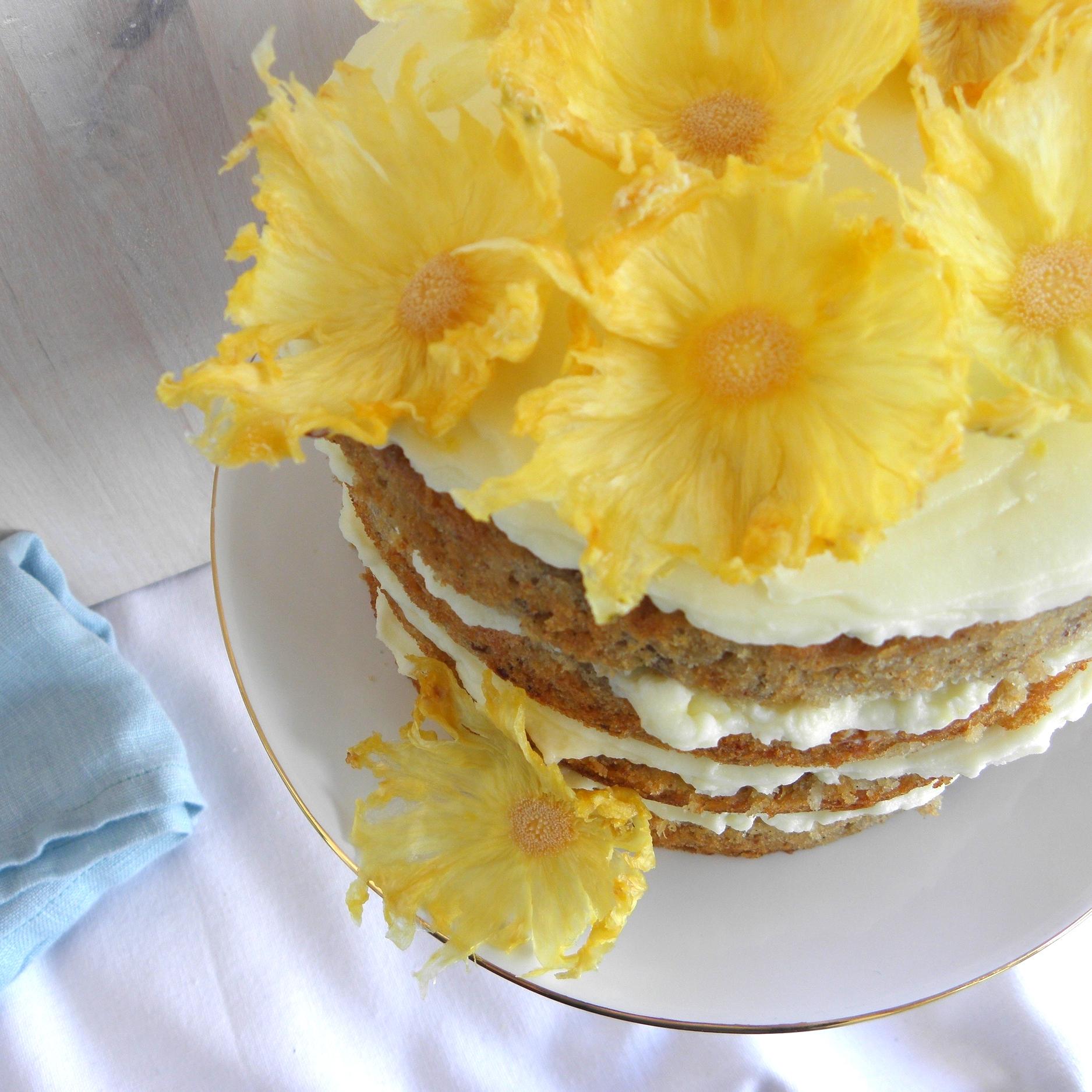 Golden hummingbird cake
