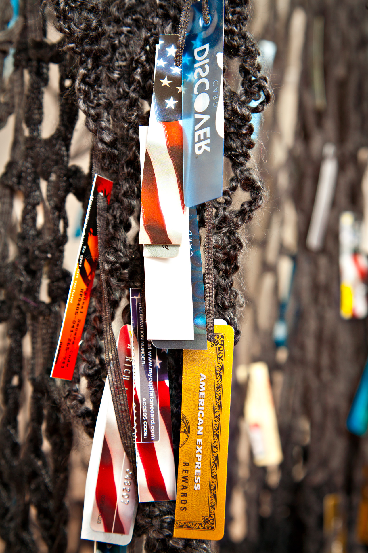 Recycled promotional credit cards