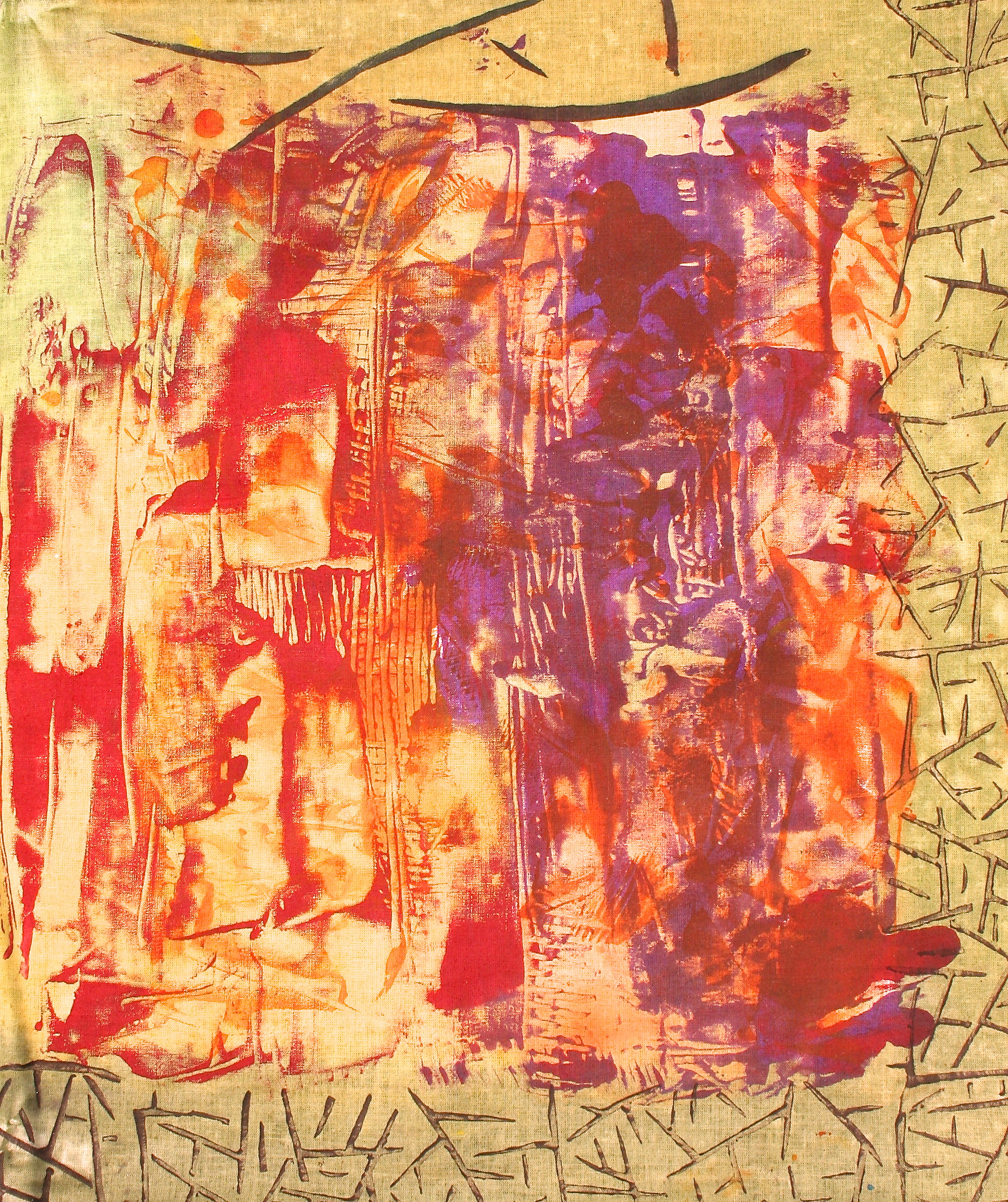 Student Work- Monoprinting, Stamping and Surface Design
