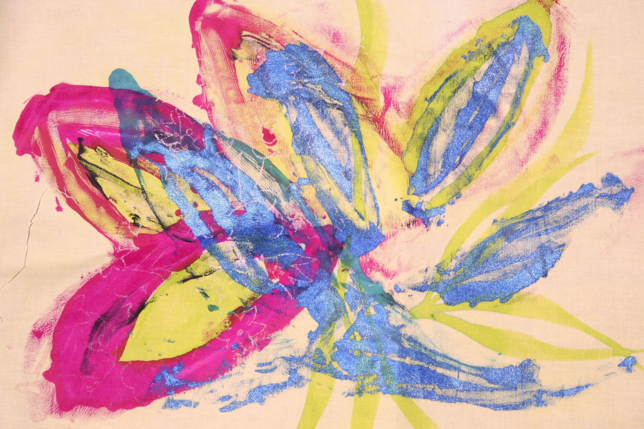 Student Work- Monoprinting and Surface Design