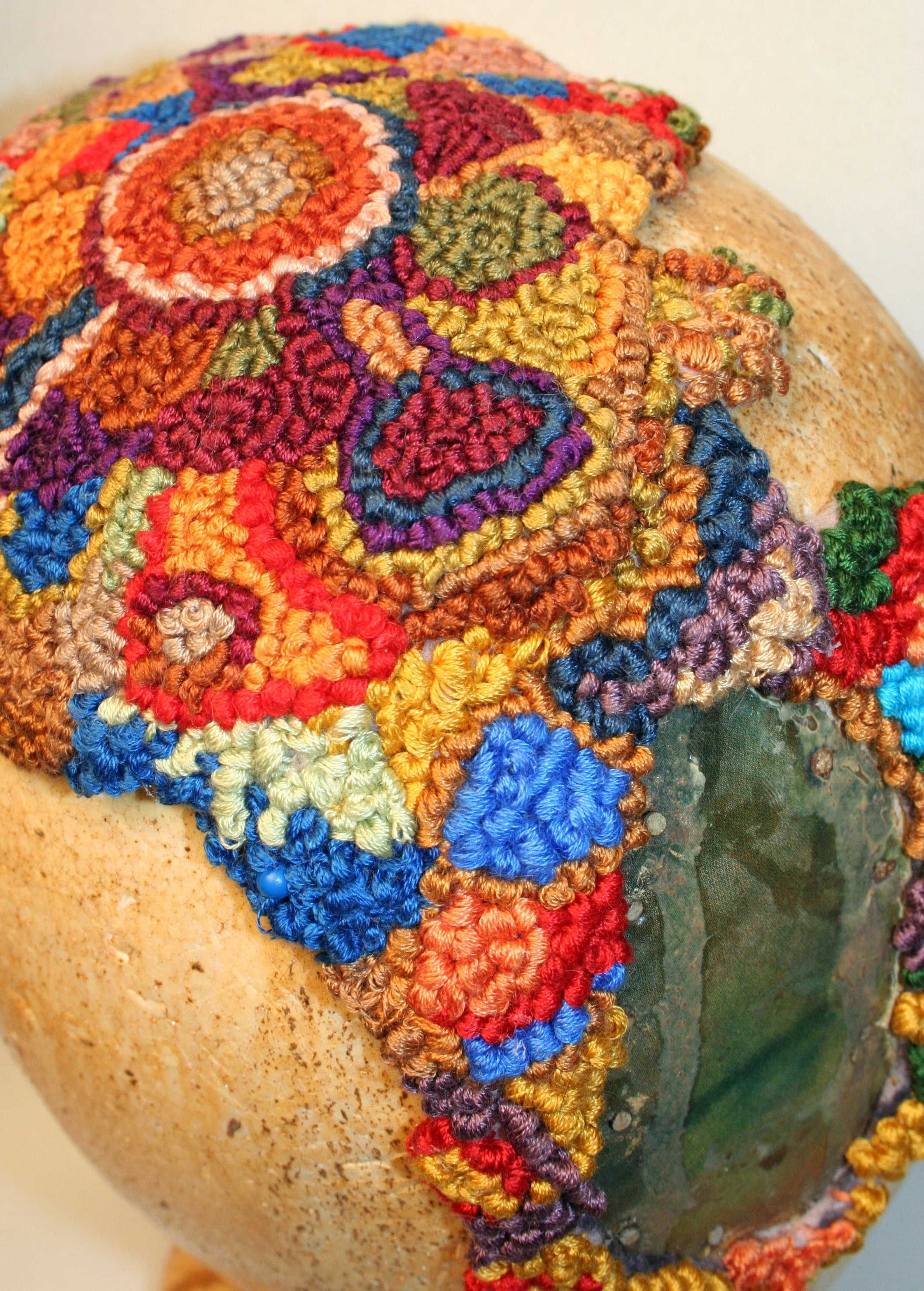Extensive hand embroidery