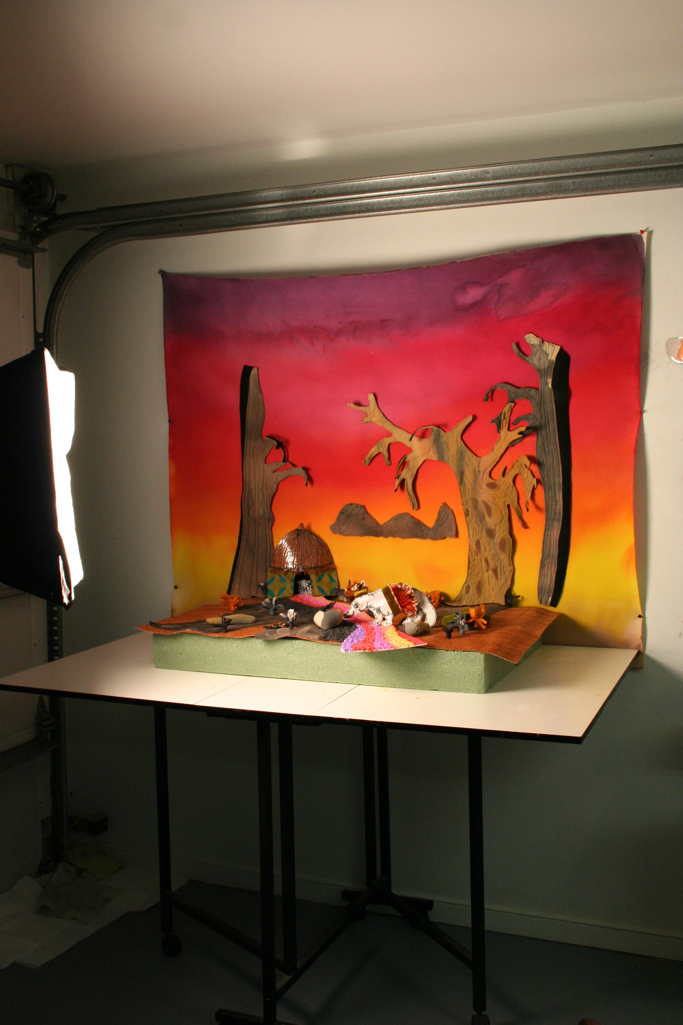 Setting up in the studio to see how it looks...