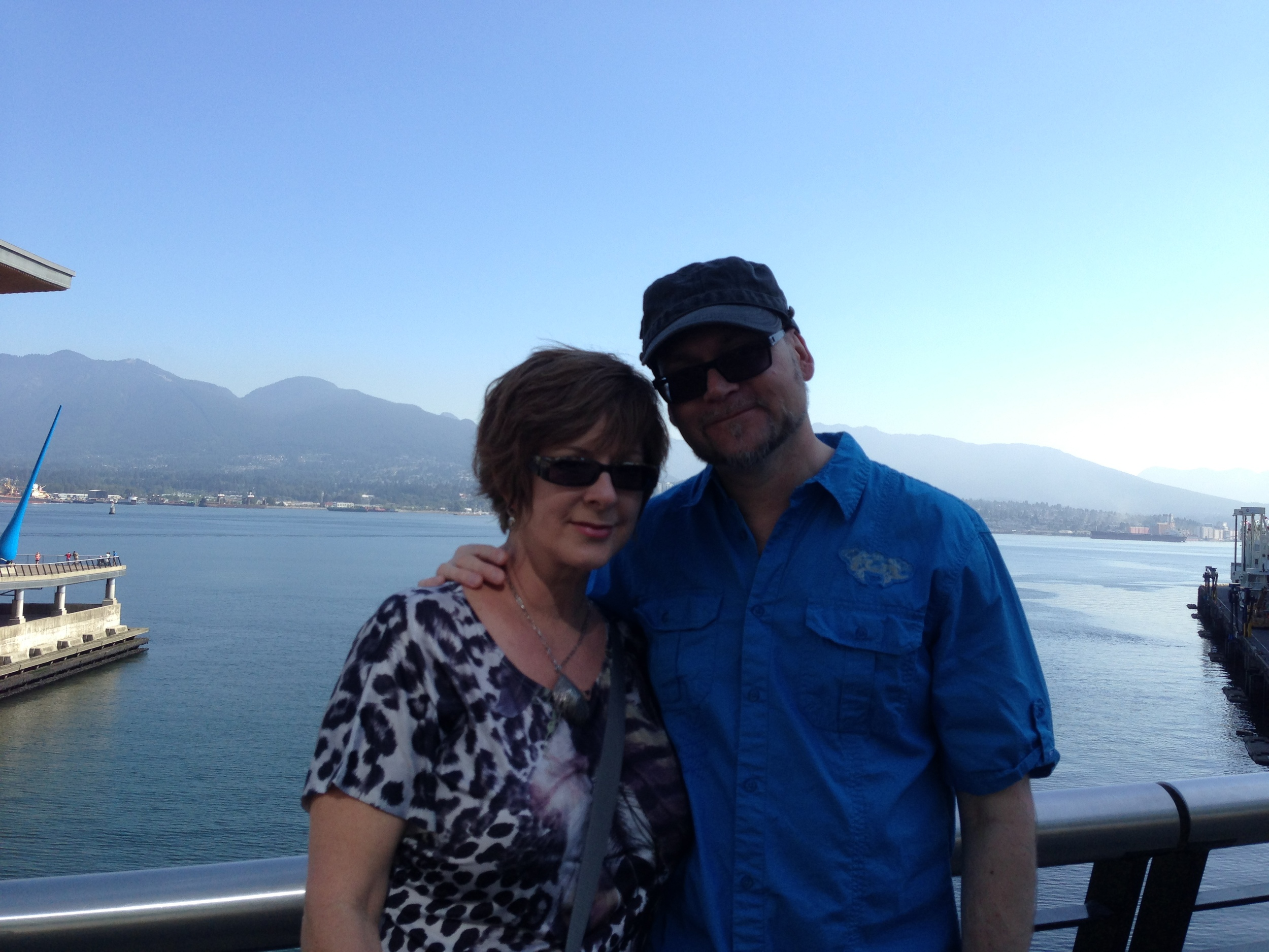 Leisa and John- our old home of North Vancouver behind us.