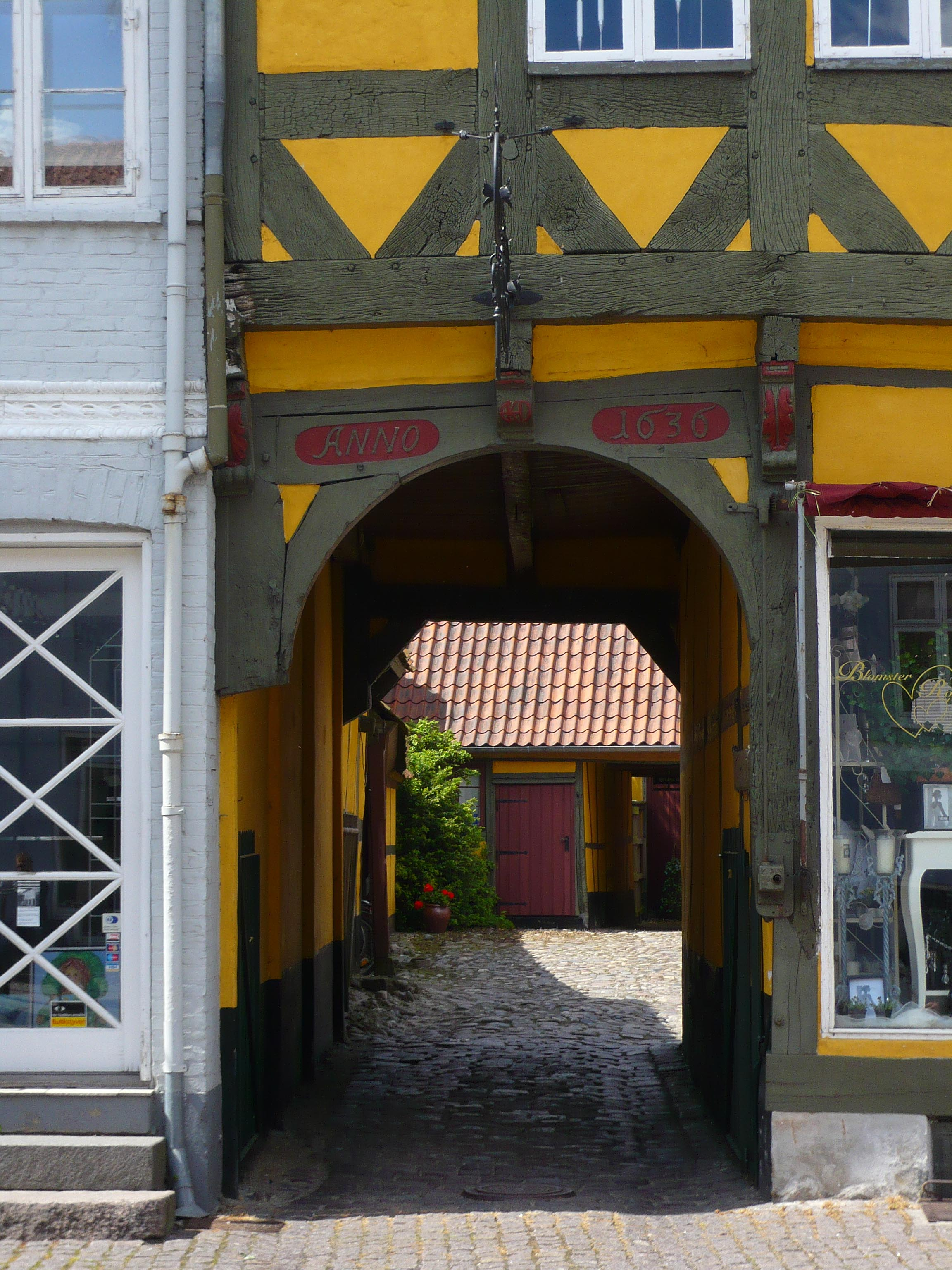 A 17th-century timber-framed building in Køge, south of Copenhagen