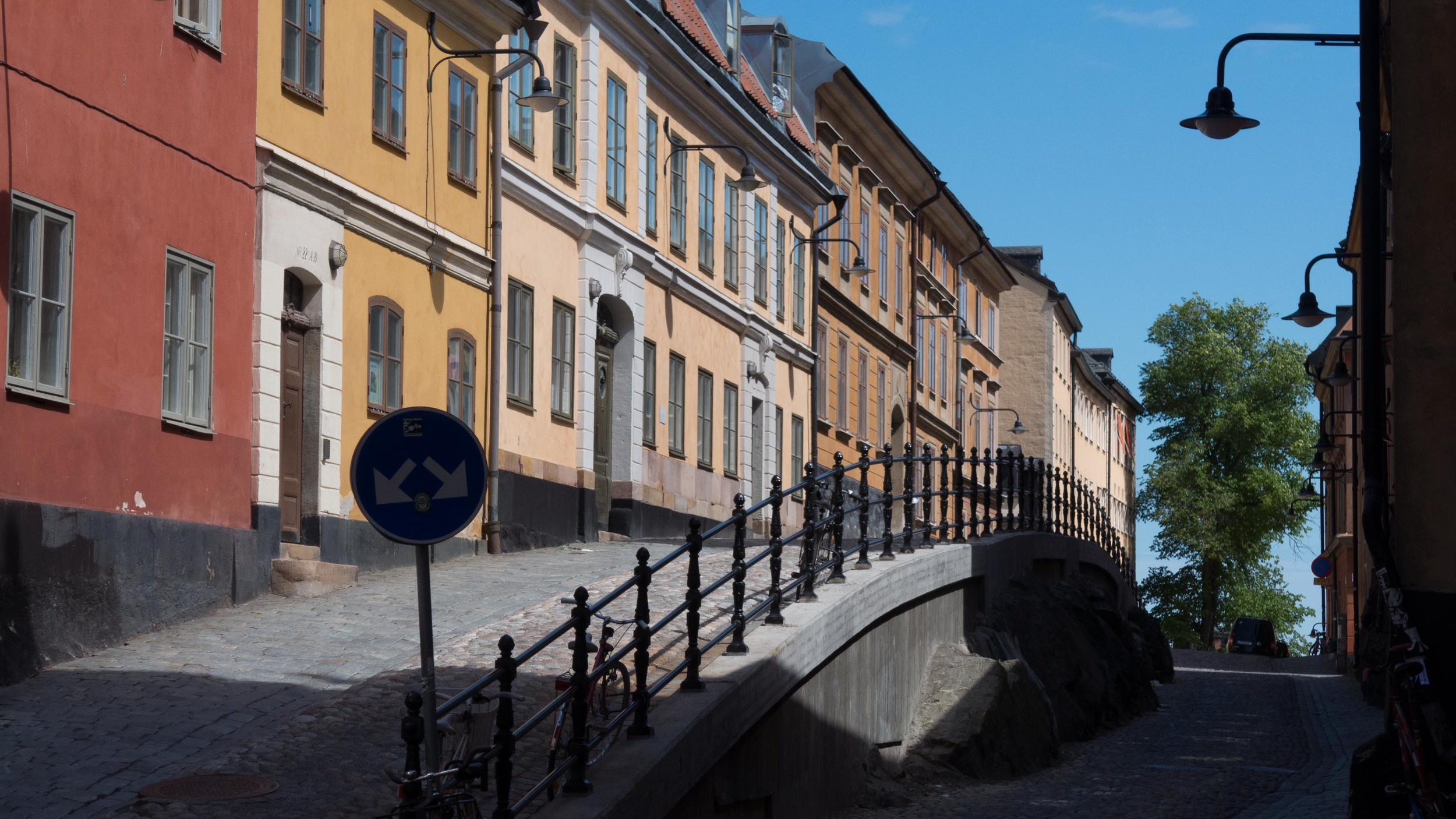 A row of houses in Södermalm, Stockholm