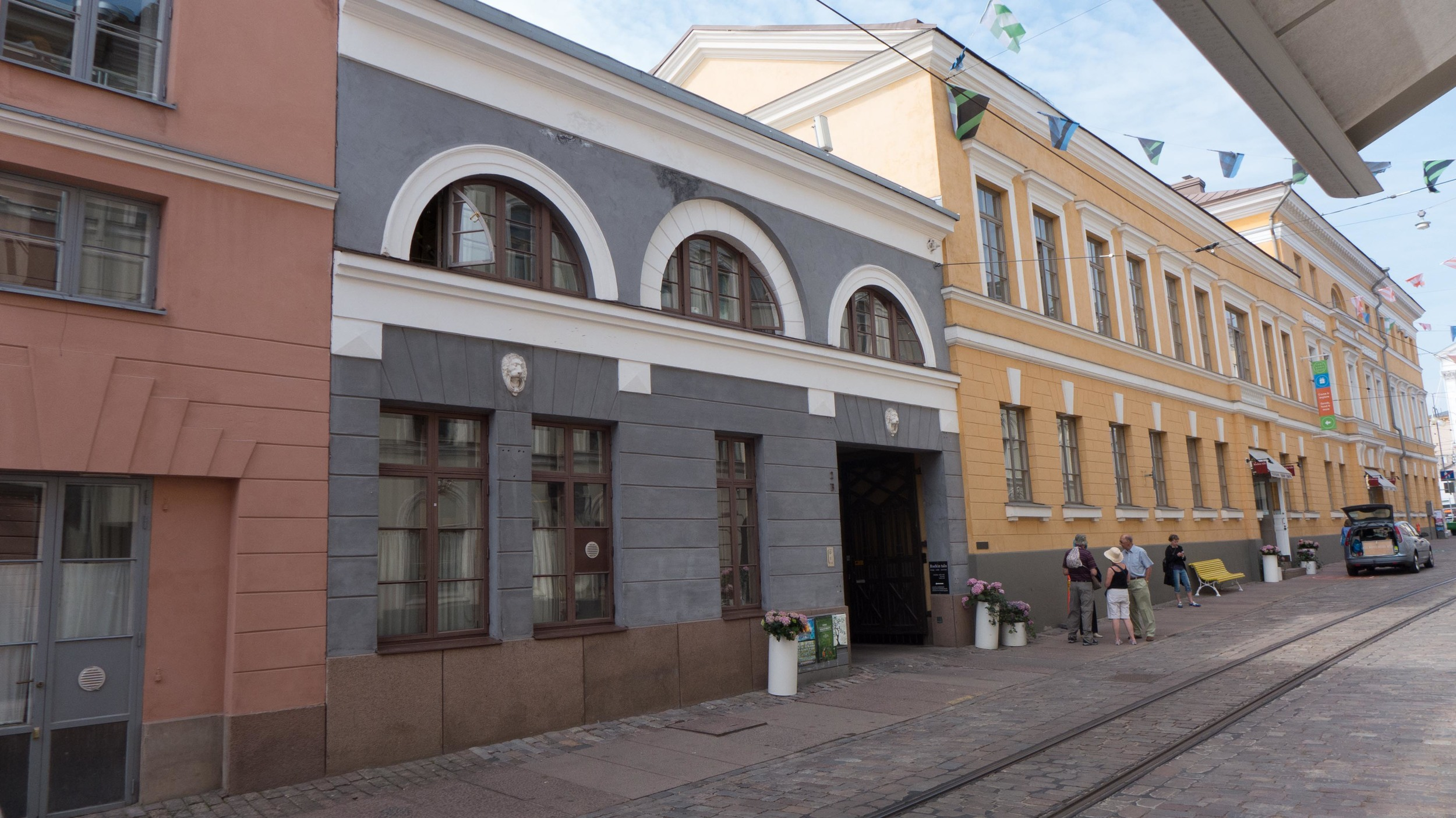 19th-century buildings in a street south of the cathedral in Helsinki