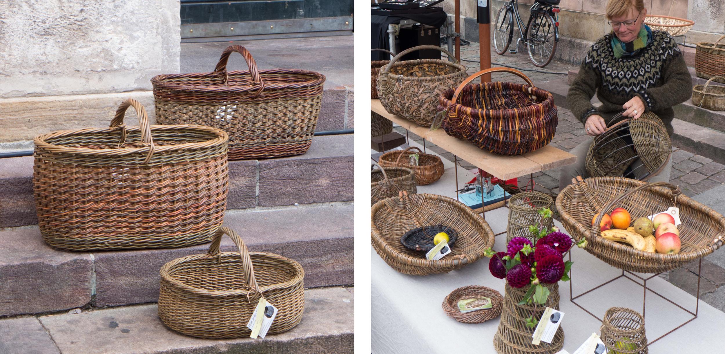 The basket maker  Anne Mette Hjørnholm  from Hjerm