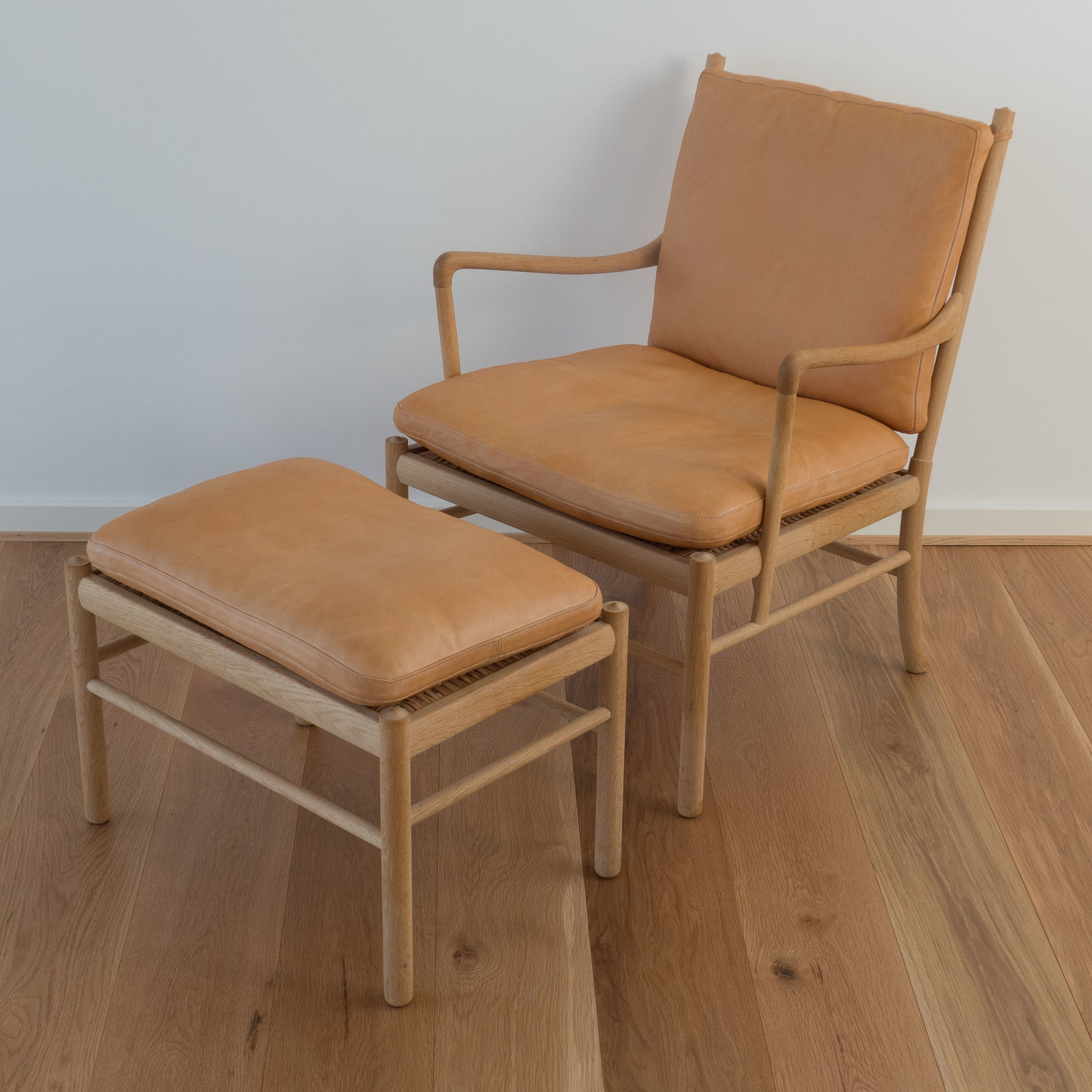 Wanscher chair and stool.jpg