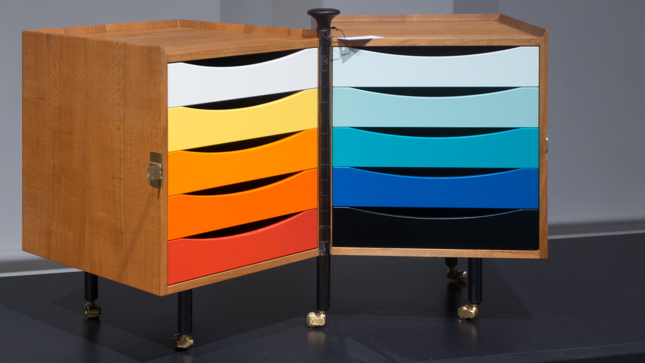Glove Cabinet by Finn Juhl designed for his wife in 1961 and shown at the Cabinet Maker's Guild exhibition the same year
