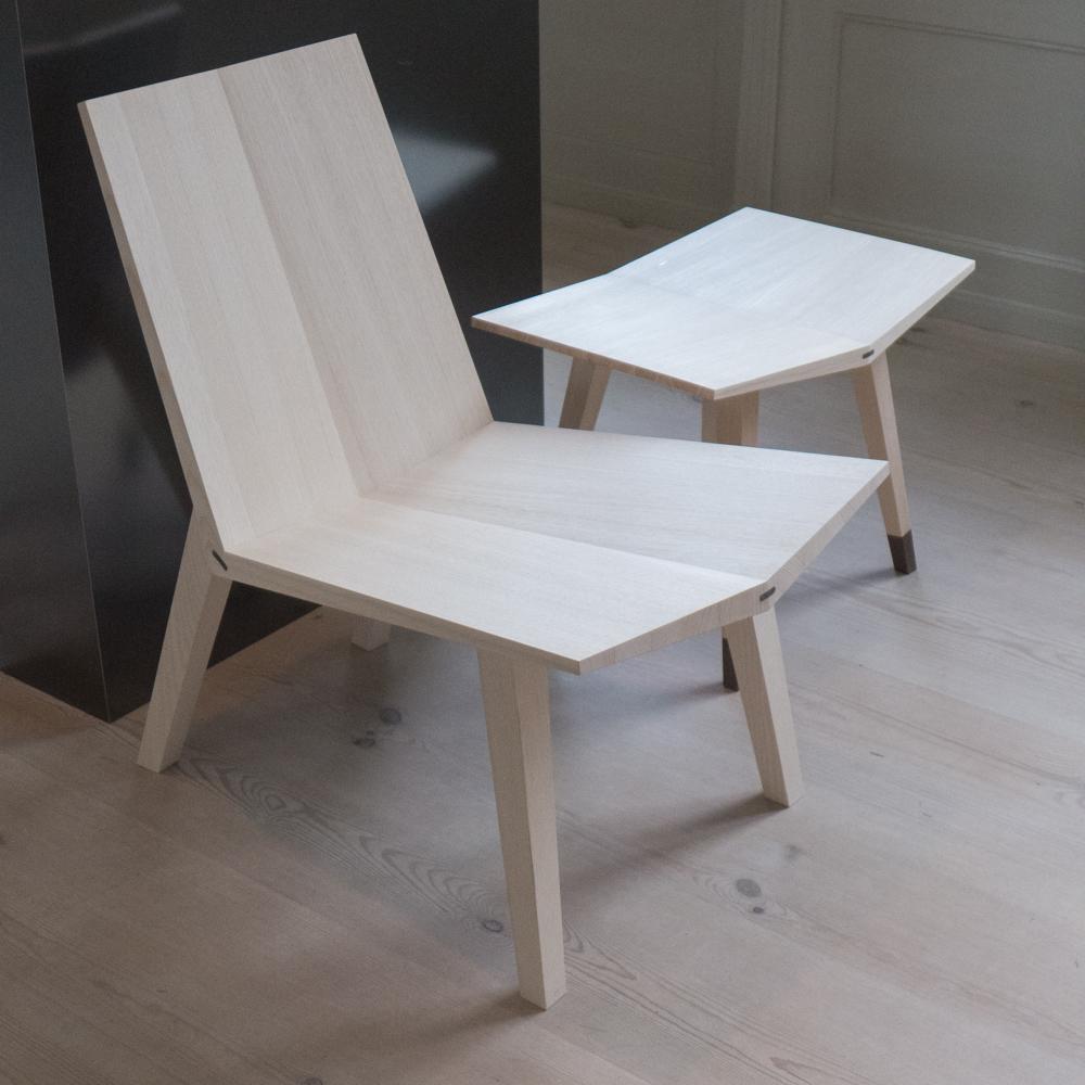 Wedge Chair + Wedge Stool