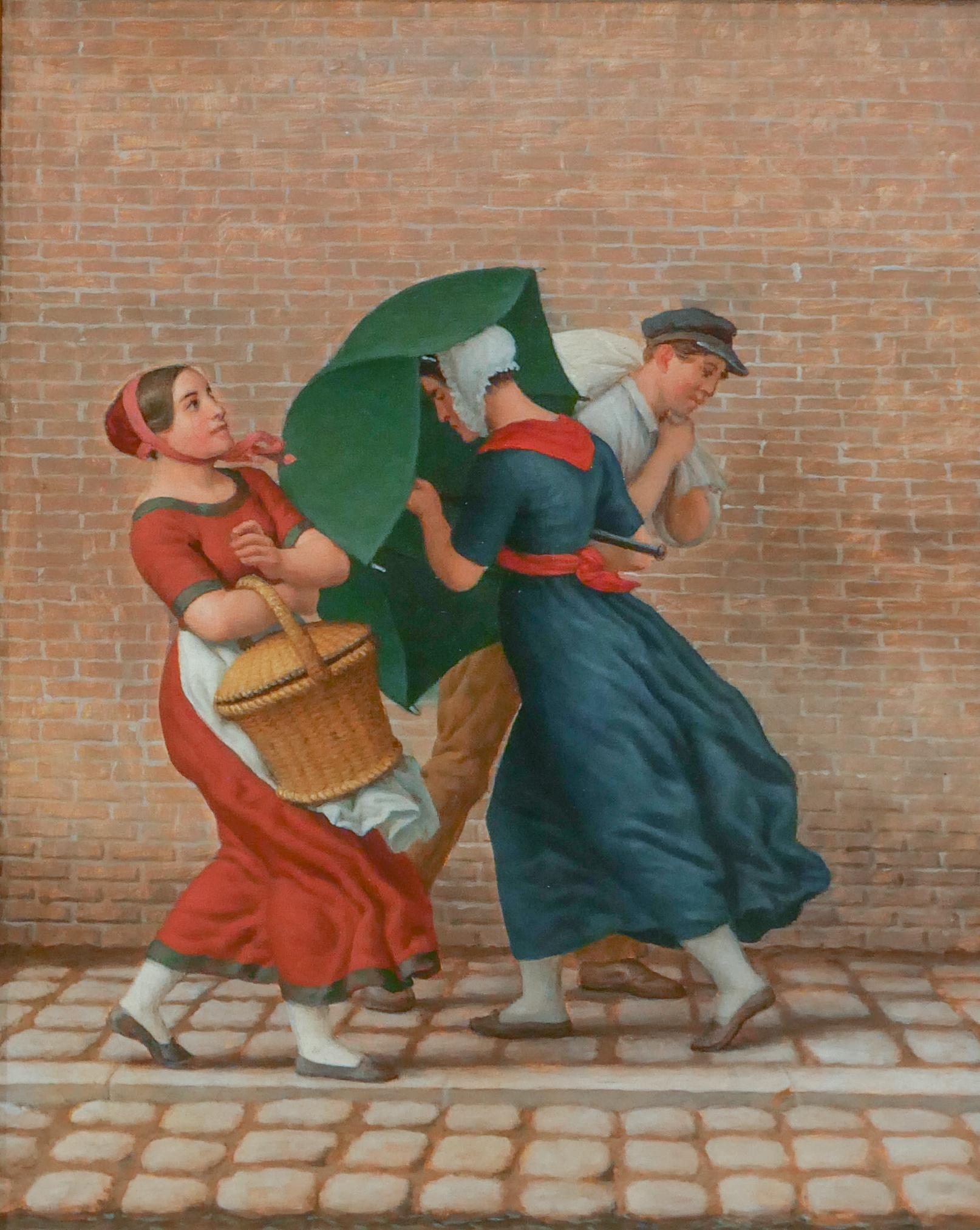 - street sceneby Christoffer Wilhelm Eckersberg (1783-1853)